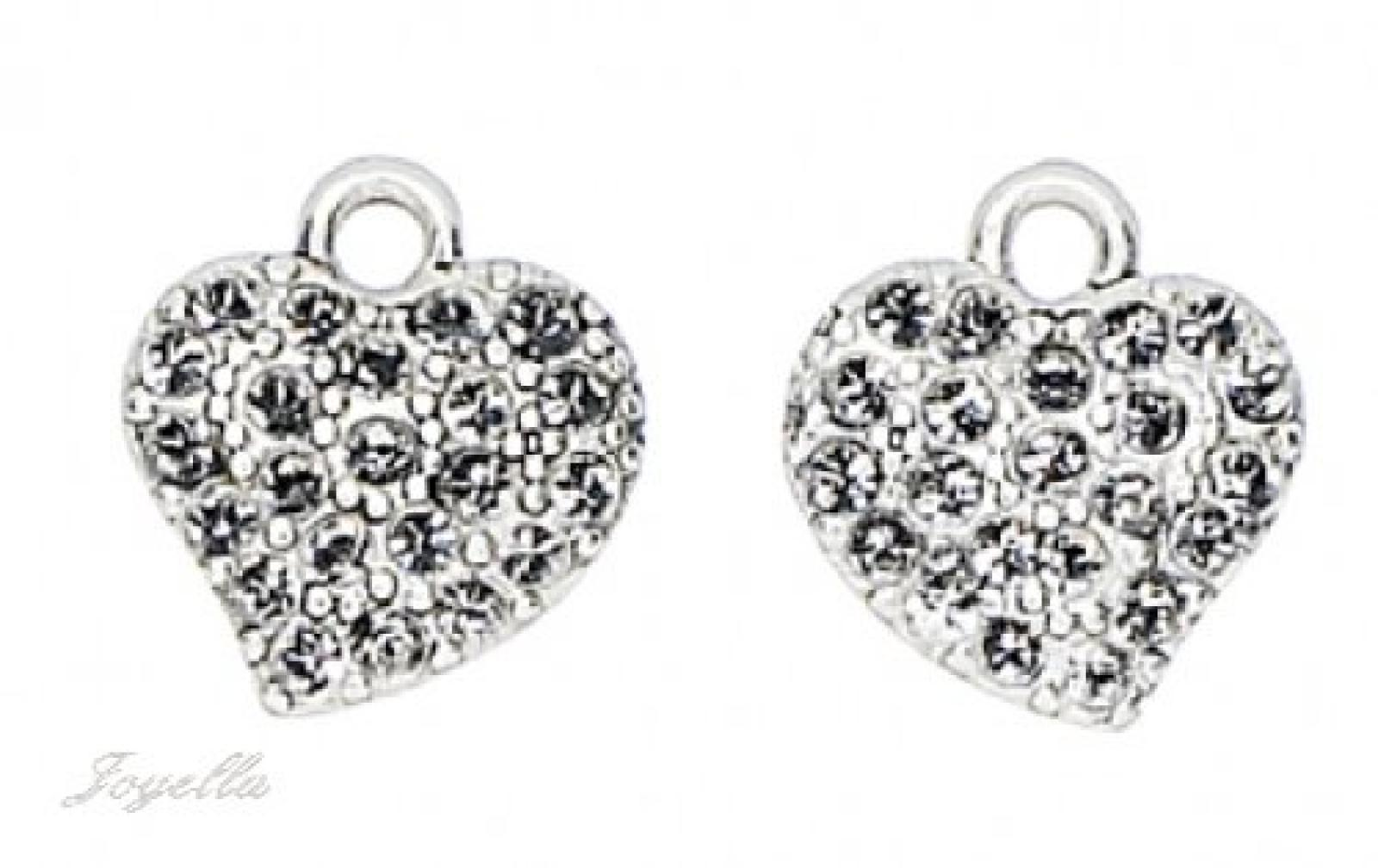 PILGRIM 511-001 Ohrring-Charms Anhänger, versilbert, kristall