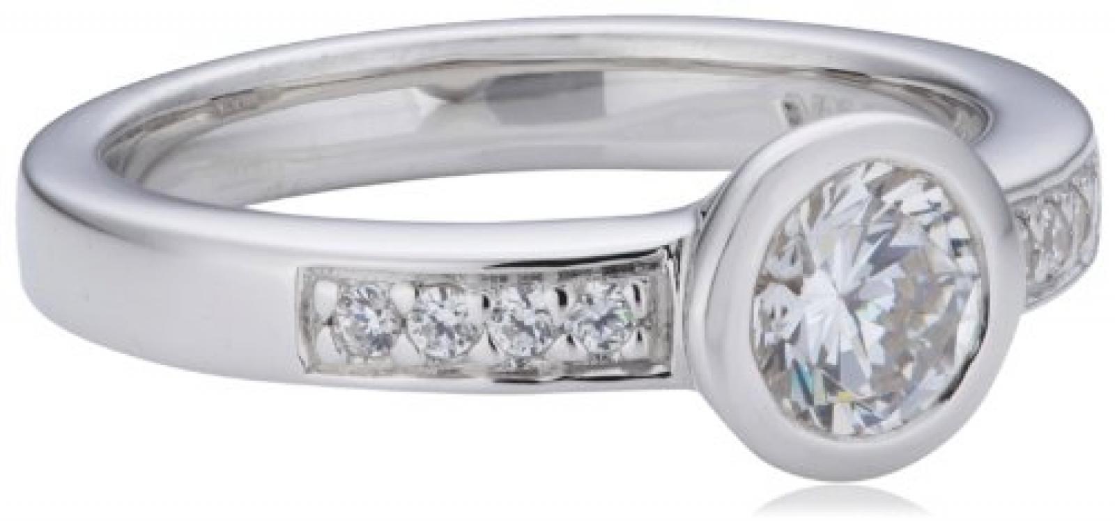 Viventy Damen-Ring Marrakesch 925 Sterlingsilber 9 Zirkonia weiss 761091