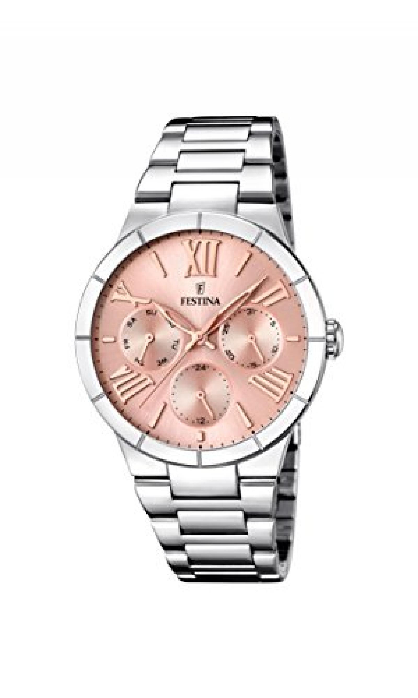 Festina Damen-Armbanduhr Analog Quarz Edelstahl F16716/3