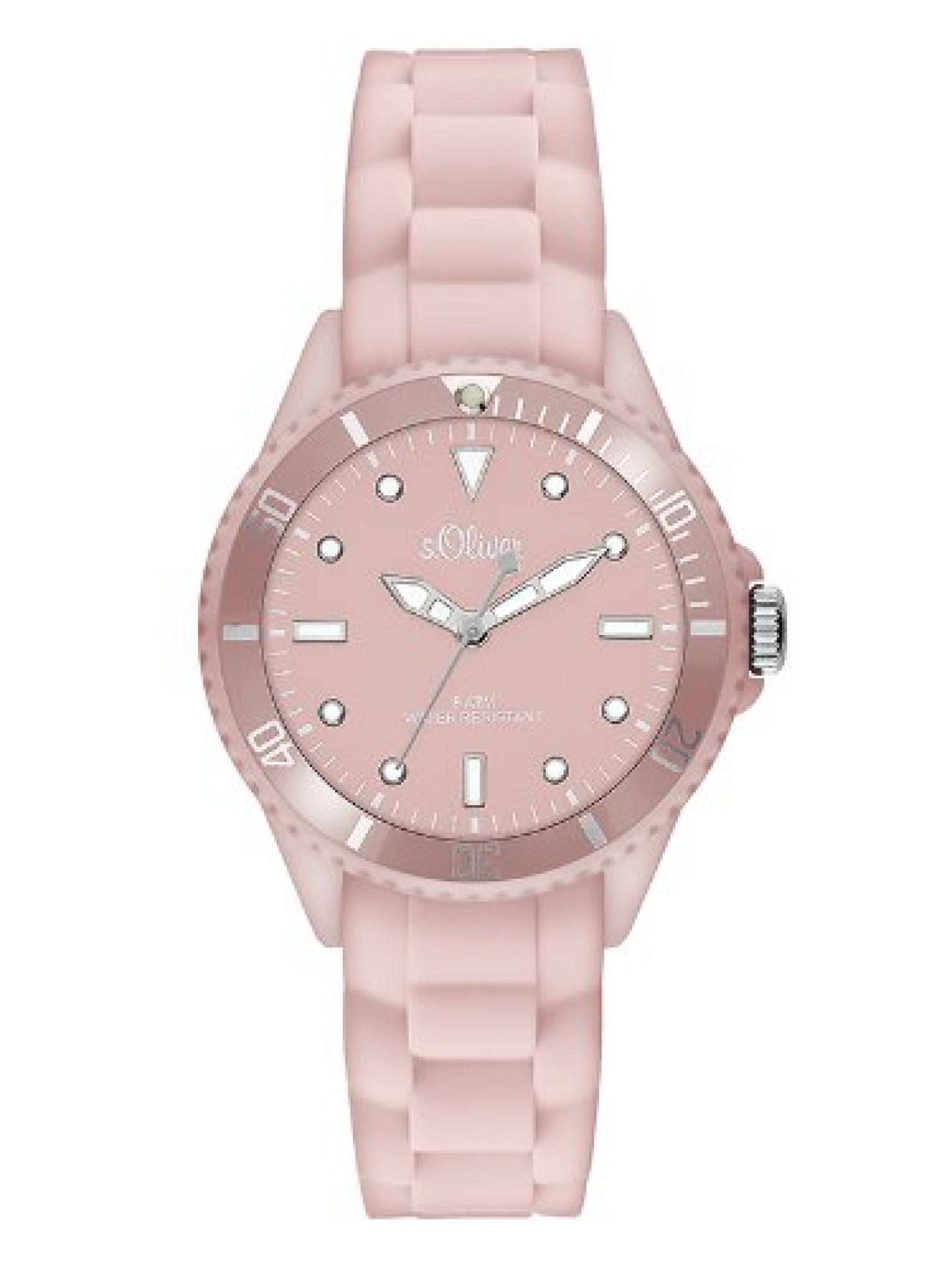 s.Oliver Damen-Armbanduhr XS Analog Quarz Silikon SO-2753-PQ