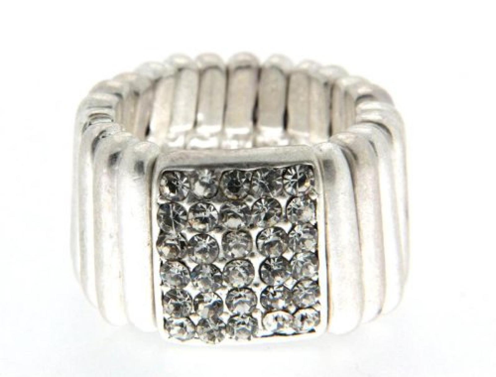 Sweet Deluxe Damen-Ring Messing sweet deluxe Damen Strechring Barock 4 silber/kristall 02763 Gr. 2763