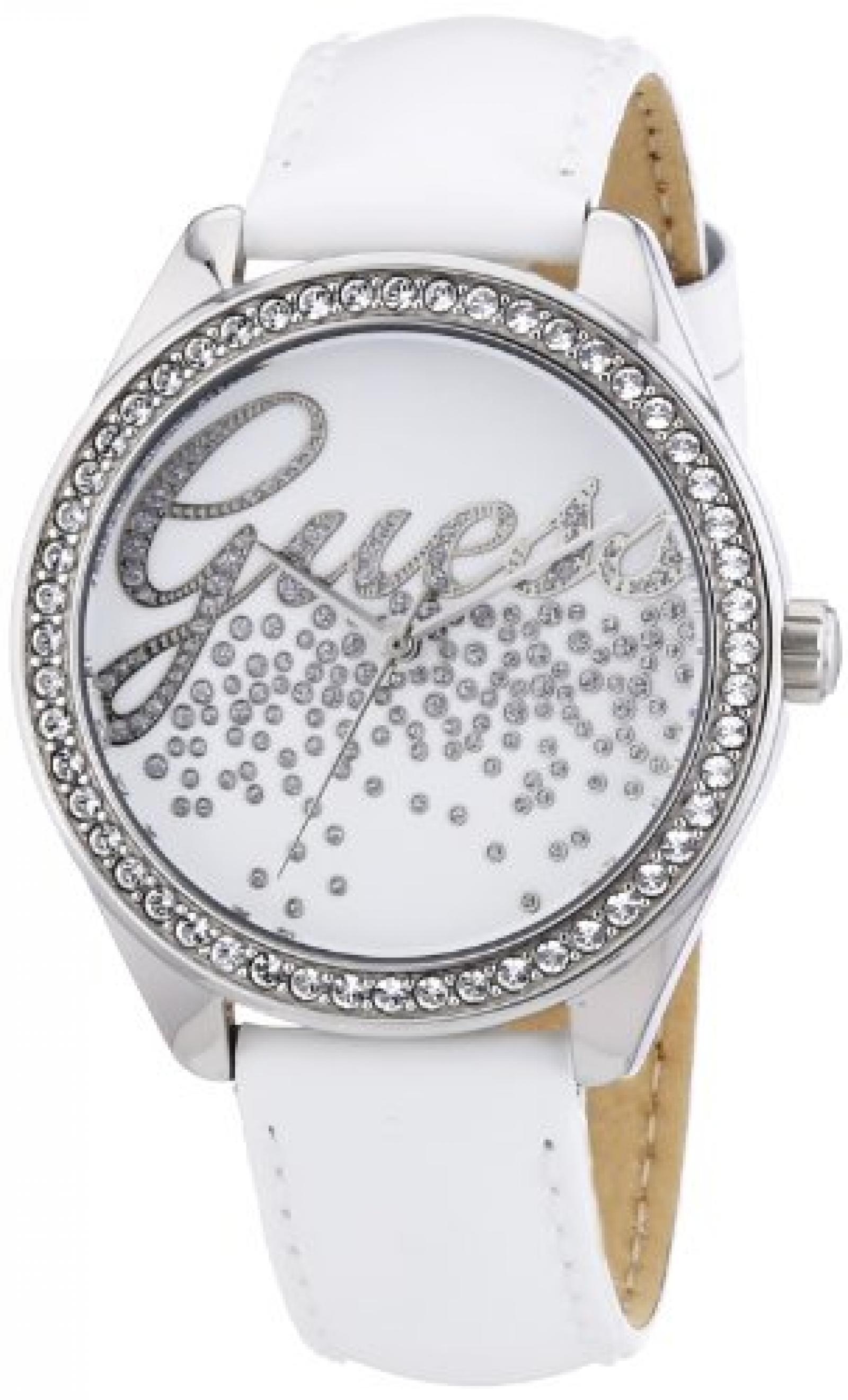 Guess Damen-Armbanduhr XS Analog Quarz Leder W60006L1
