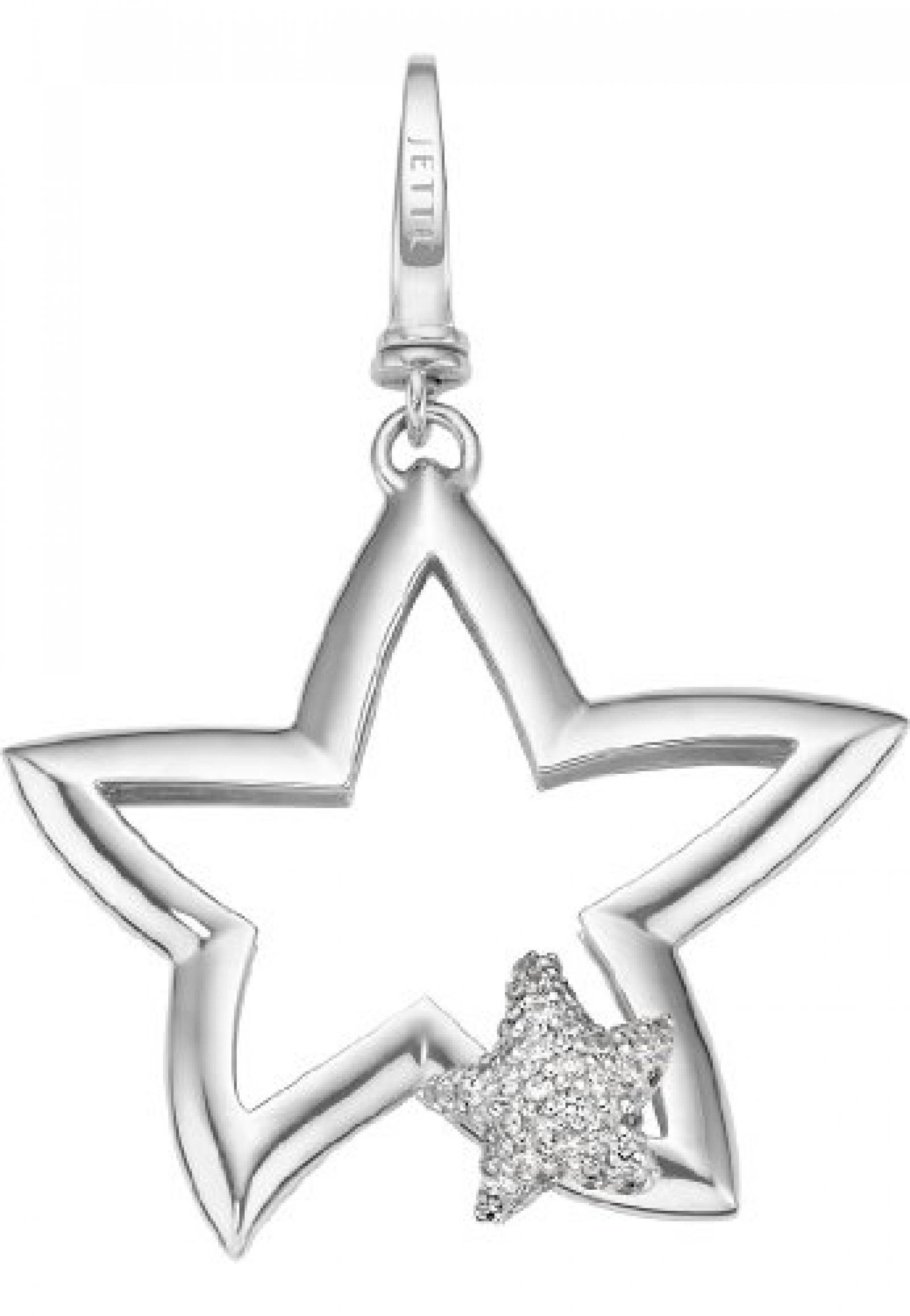 JETTE Charms Damen-Charm CHARM 925er Silber rhodiniert 38 Zirkonia One Size, silber