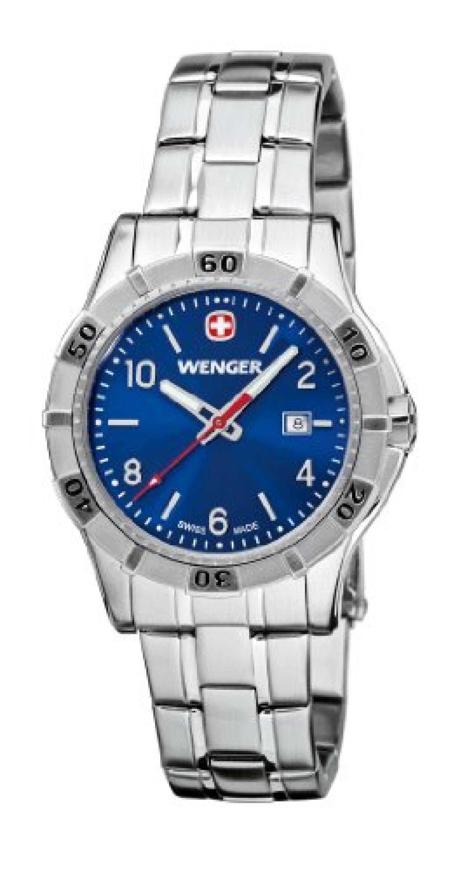 Wenger Damen-Armbanduhr XS Platoon Analog Quarz Edelstahl 01.9211.104