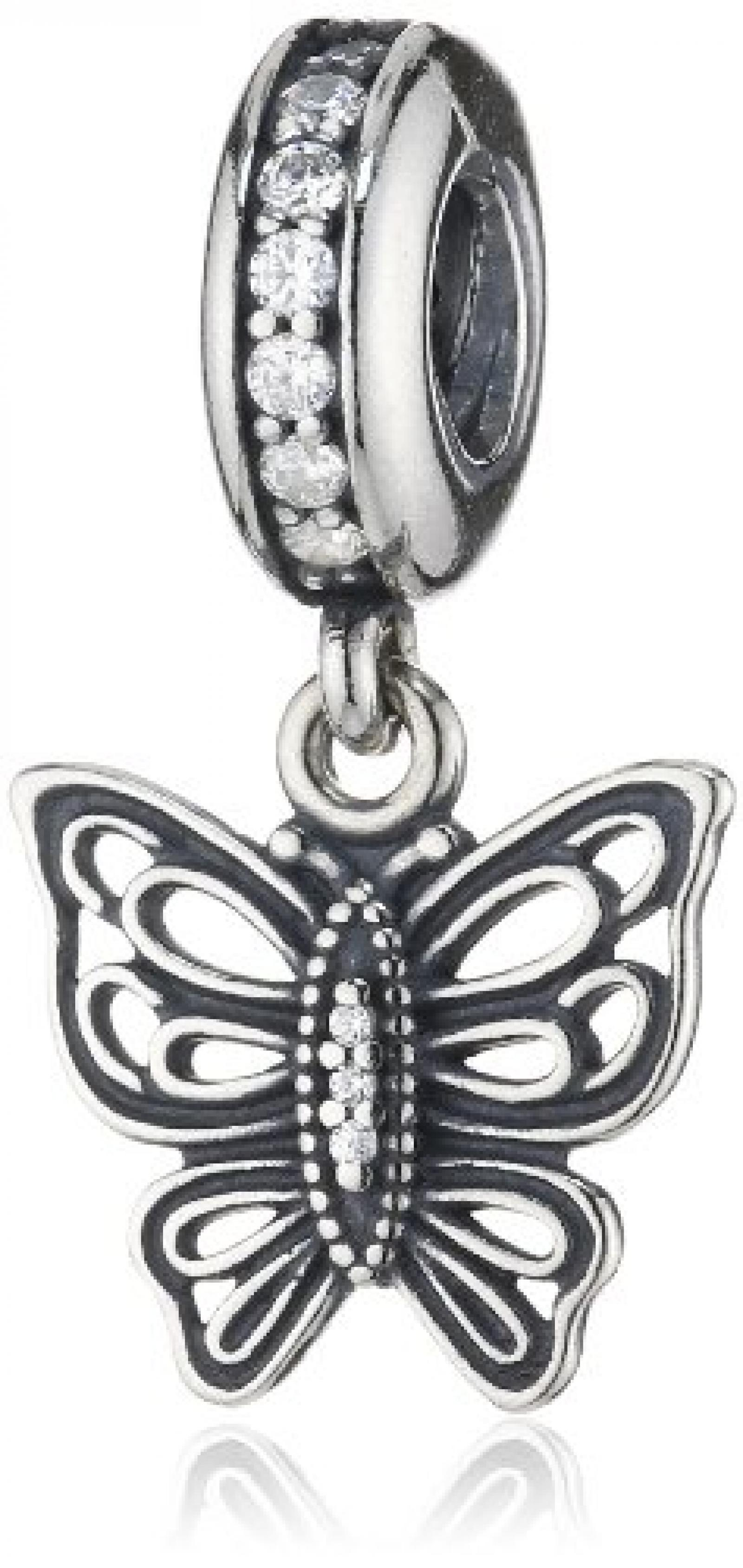 Pandora Damen-Charm 925 Sterling Silber Zirkonia weiß 791255CZ