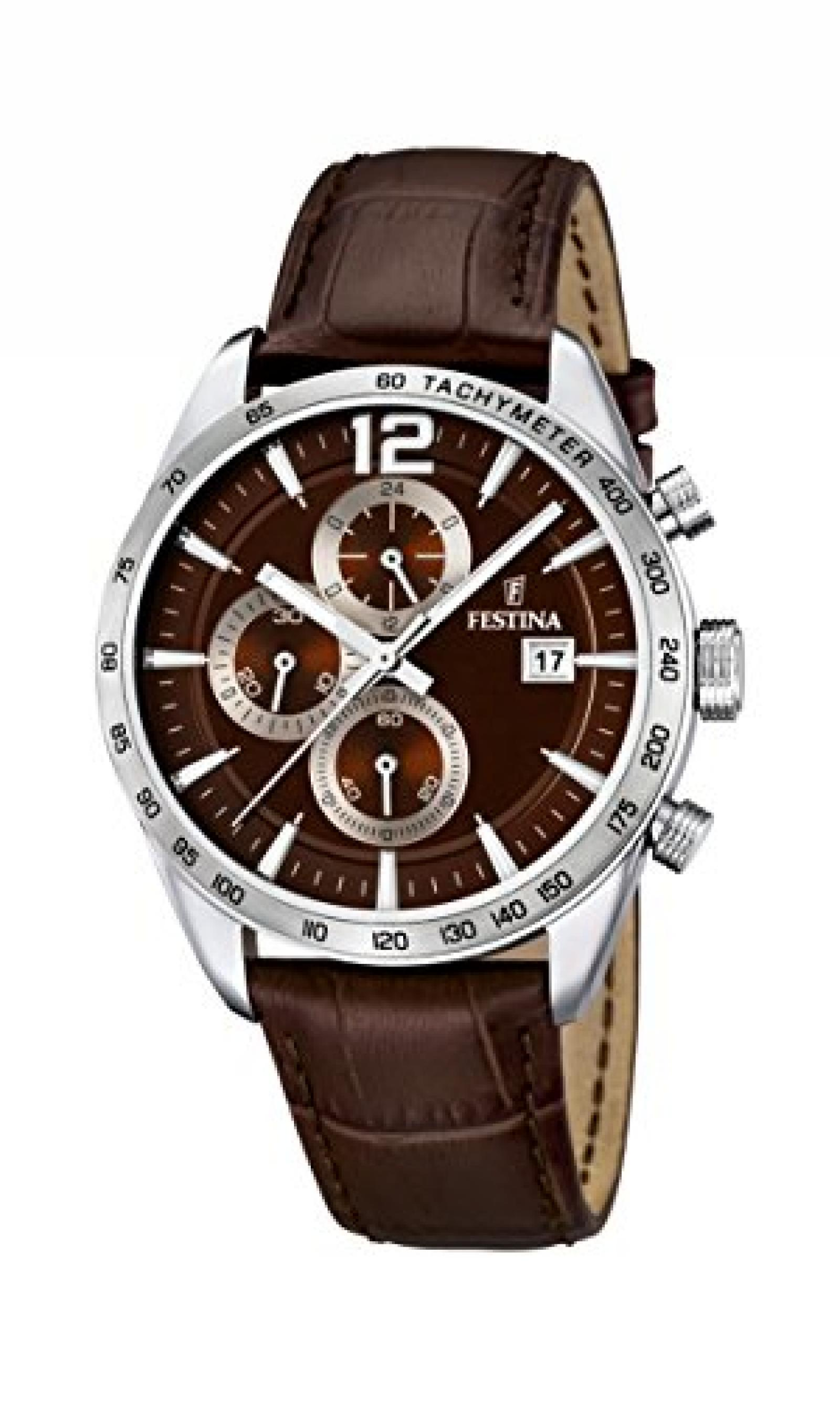Festina Herren-Armbanduhr XL Analog Quarz Leder F16760/2