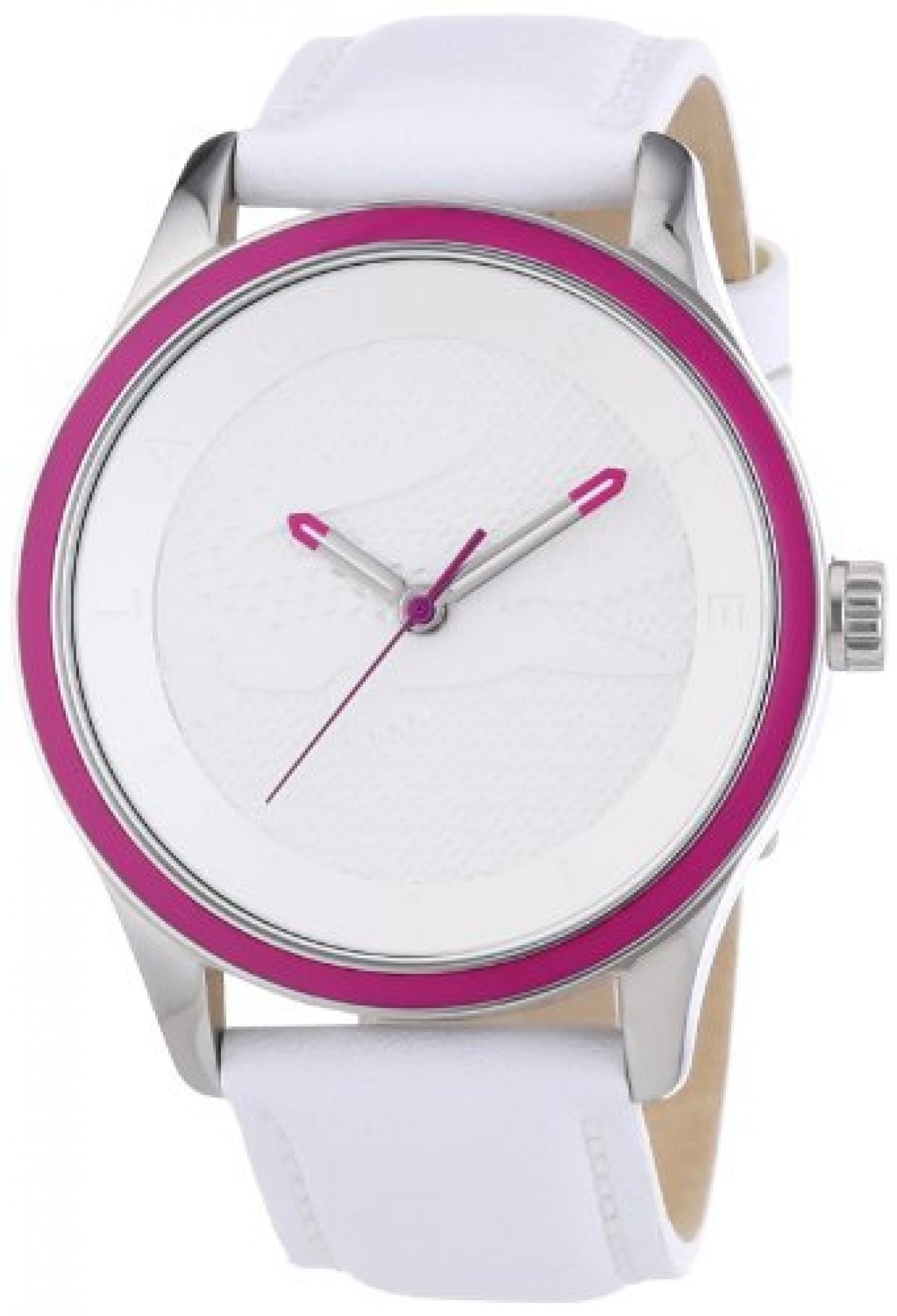 Lacoste Damen-Armbanduhr Victoria Analog Quarz Leder 2000818