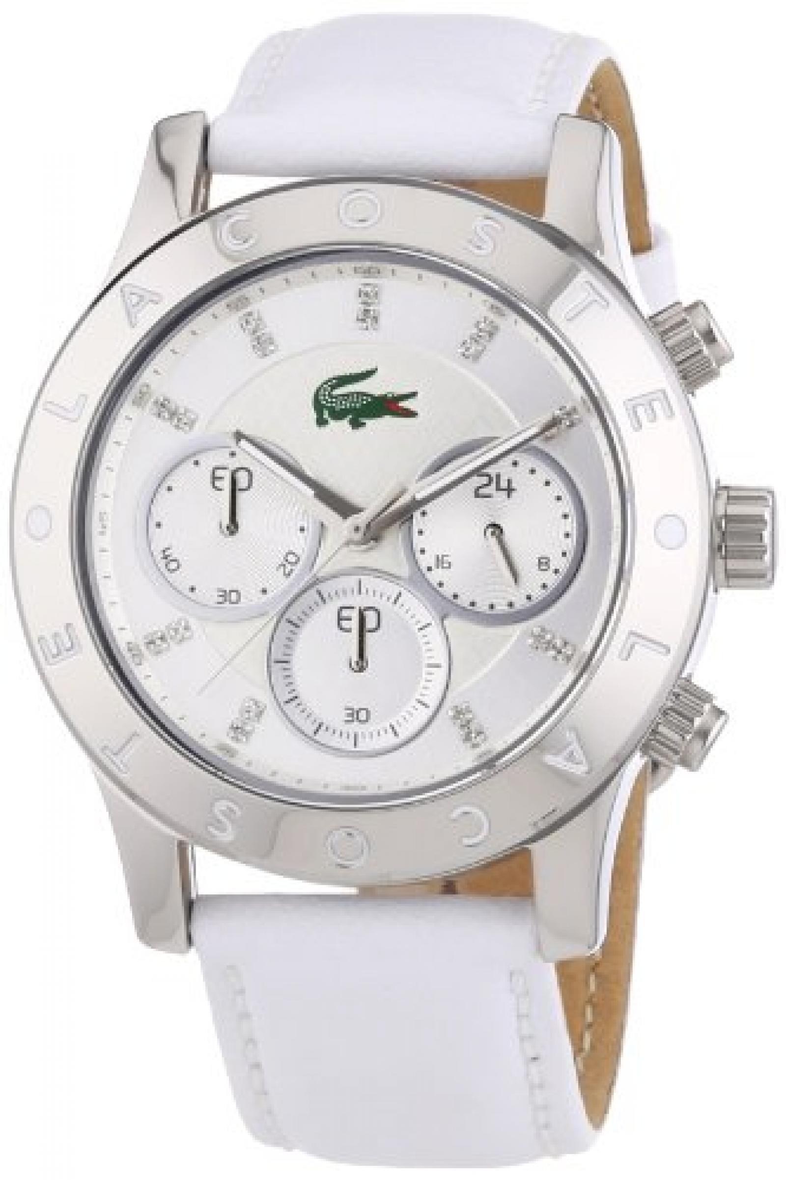 Lacoste Damen-Armbanduhr Charlotte Analog Quarz Leder 2000832