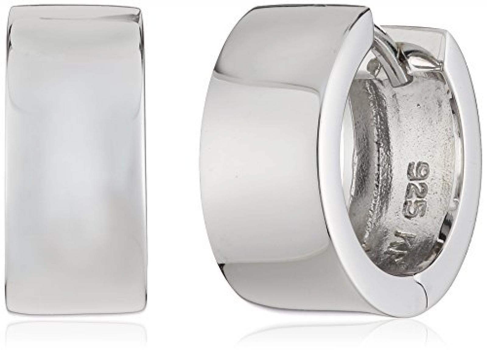 ZEEme Basic Unisex-Klappcreolen 925/- Sterling Silber 7/15mm hochglanzpoliert 500210123R