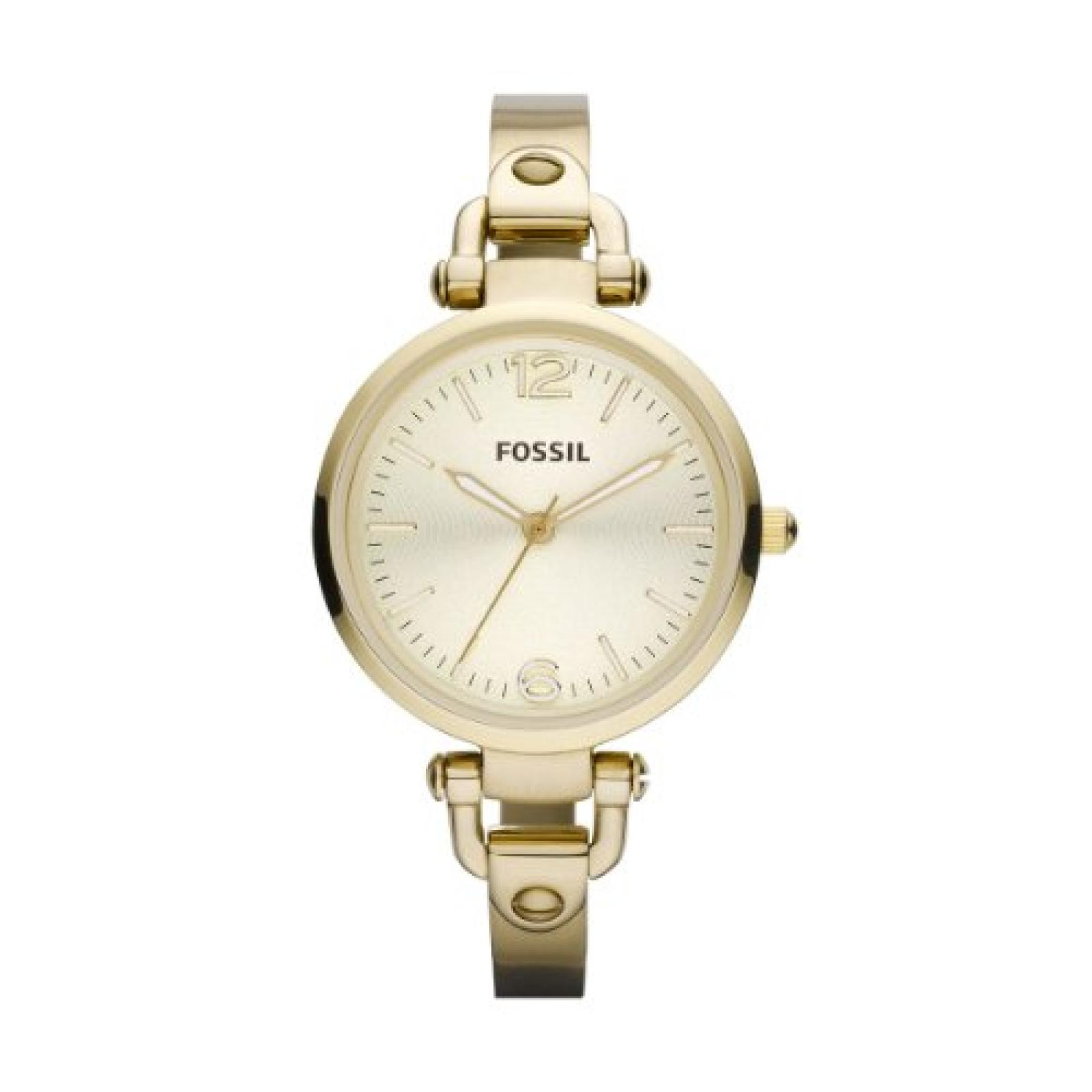 Fossil Damen-Armbanduhr XS Georgia Analog Quarz Edelstahl ES3084