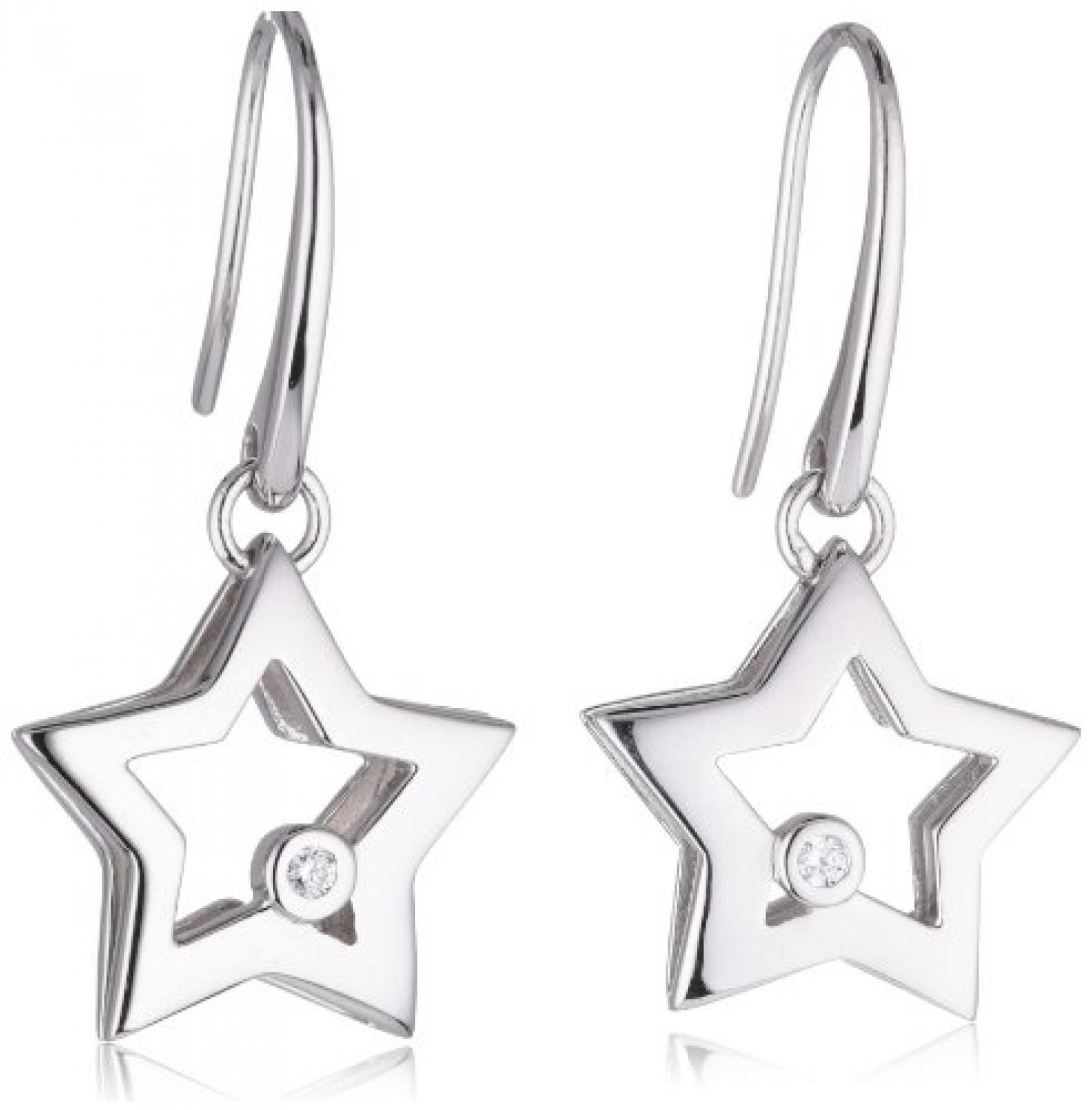 Viventy Damen-Ohrhänger 925 Sterling Silber mit 1 Zirkonia in weiss 763554