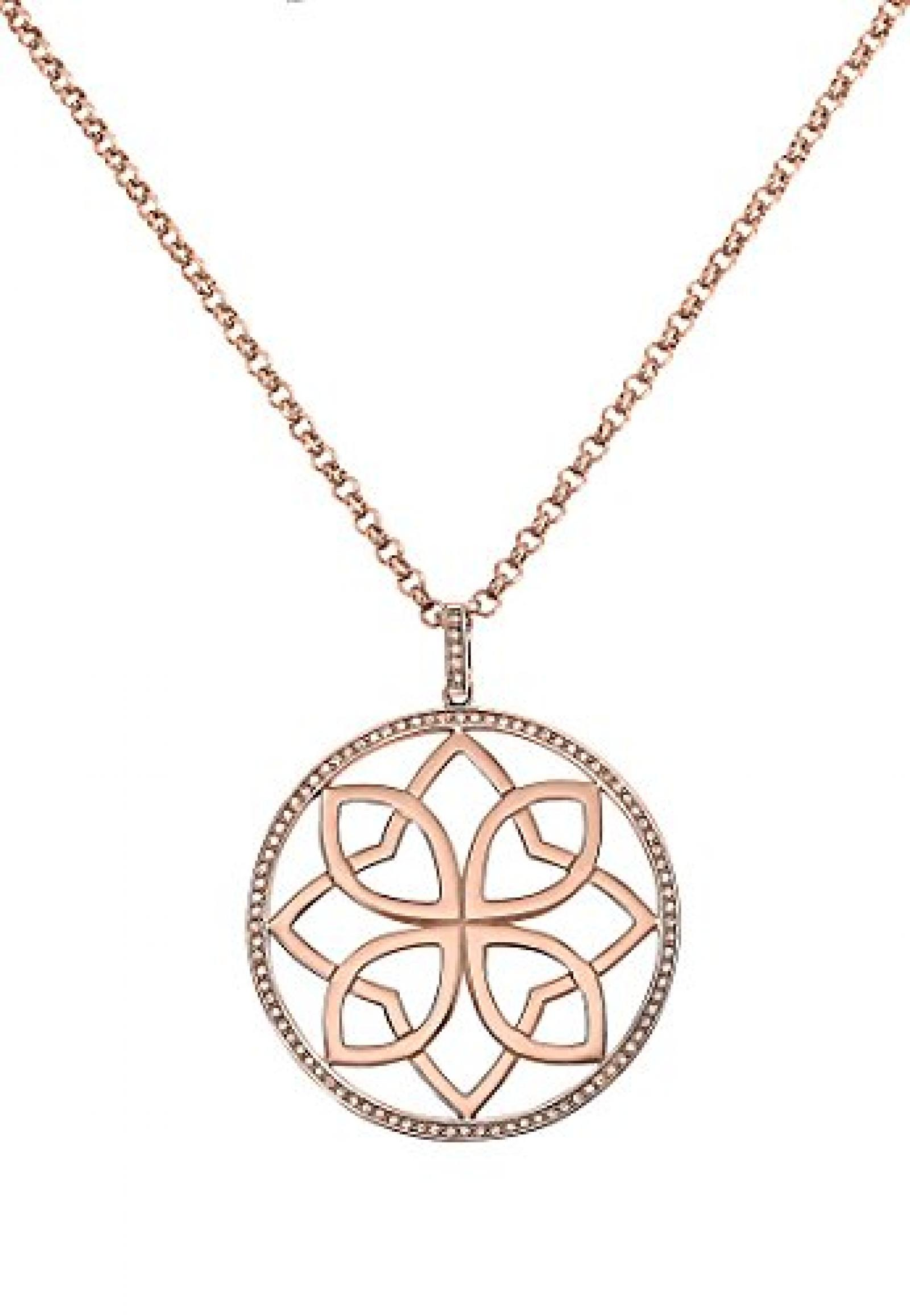 JETTE Magic Passion Damen-Collier CHAKRA Metall 93 Kristalle rosé, One Size
