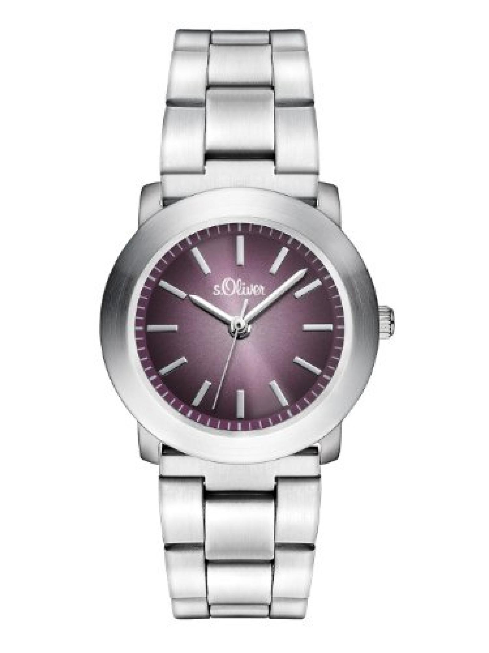 s.Oliver Damen-Armbanduhr XS Analog Quarz Edelstahl SO-2797-MQ