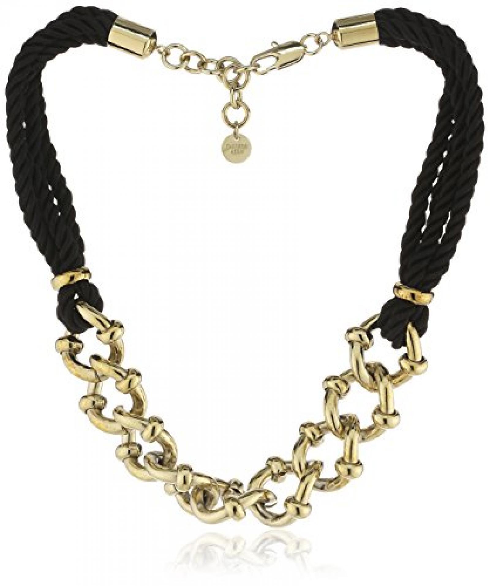 Dyrberg/Kern Damen Halskette Vergoldetes Metall Stoff Swarovski-Kristall 336246