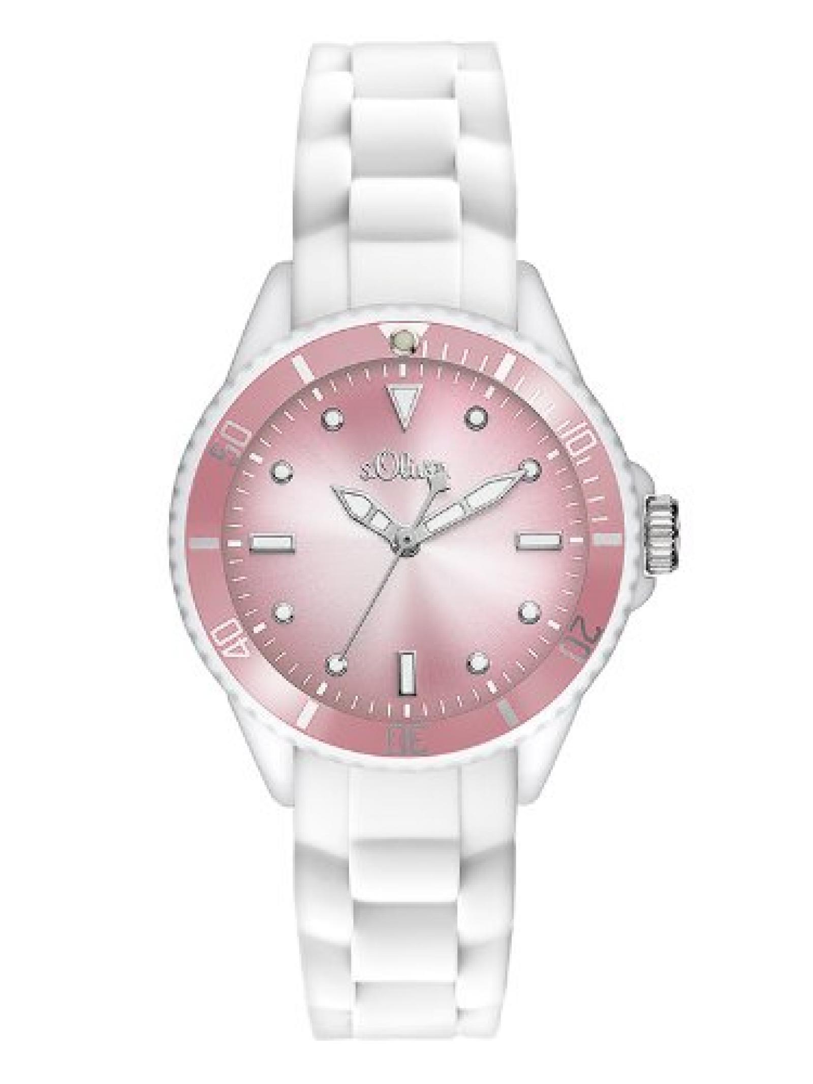 s.Oliver Damen-Armbanduhr XS Analog Quarz Silikon SO-2704-PQ