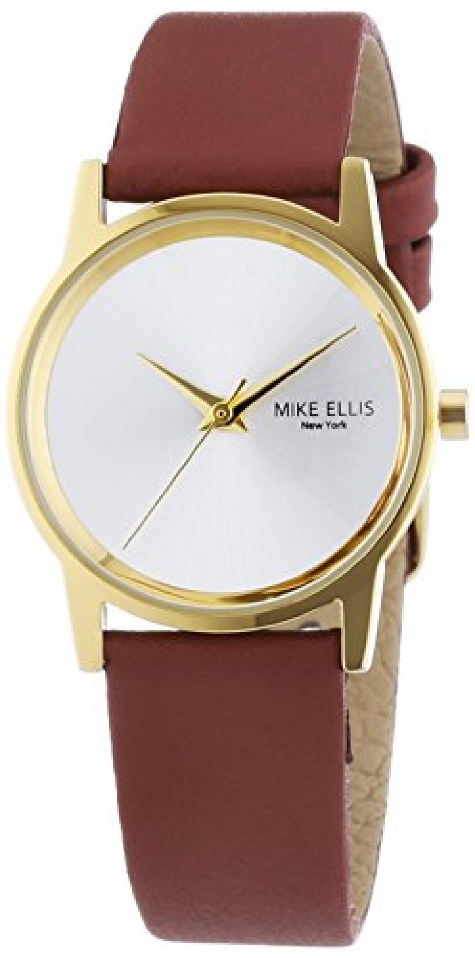 Mike Ellis New York Damen-Armbanduhr XS AW Analog Quarz Leder SL4-60230A