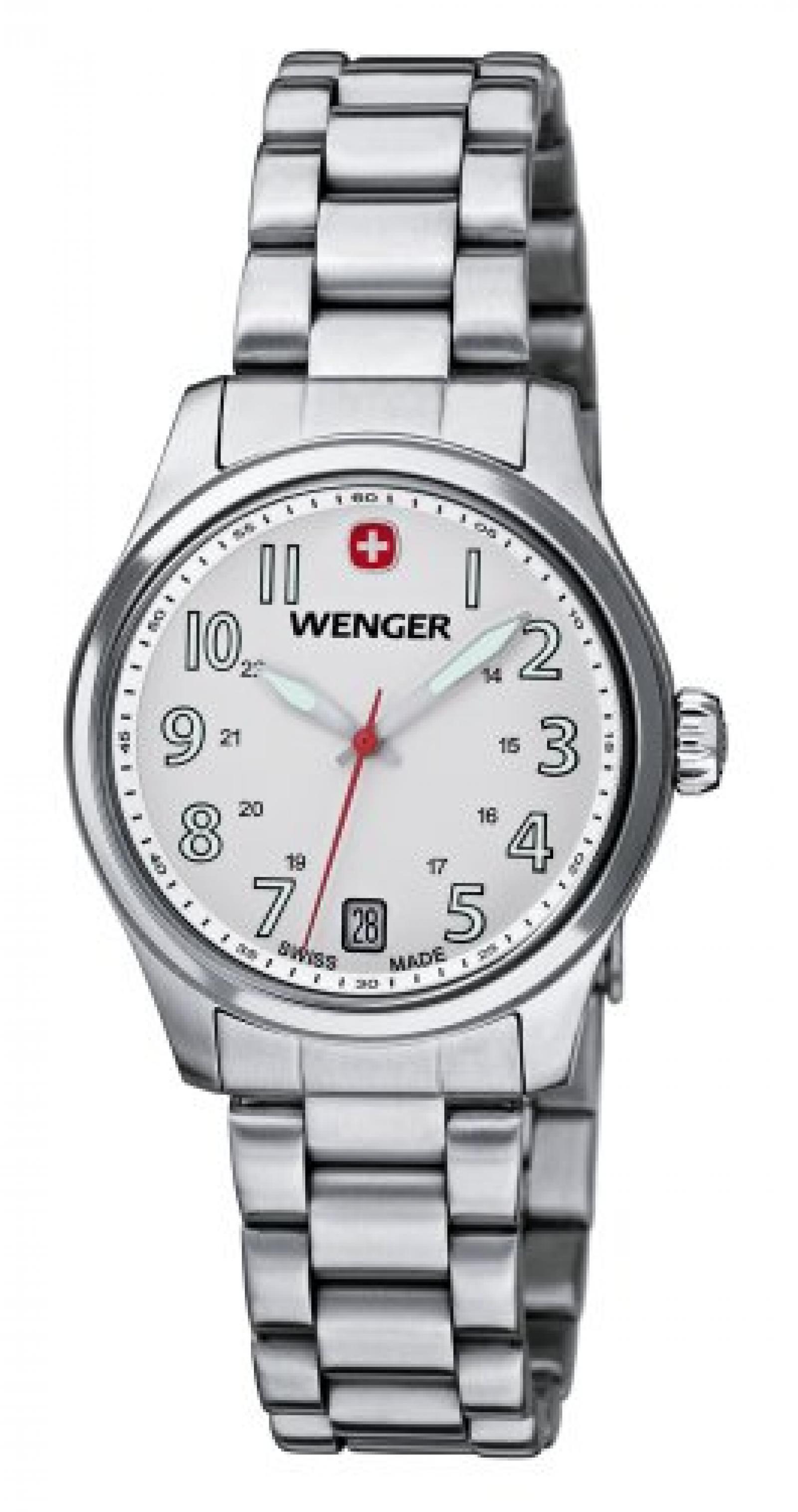 Wenger Damen-Armbanduhr XS Terragraph Analog Quarz Edelstahl 01.0521.102