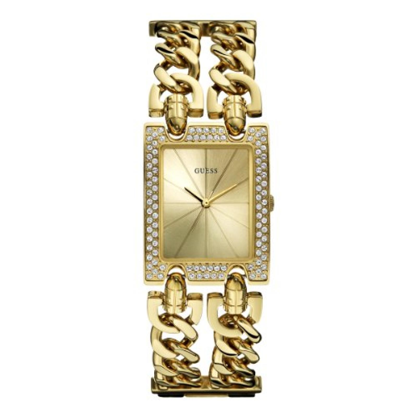 Guess Damen-Armbanduhr XS Analog Quarz Edelstahl WOO72L1
