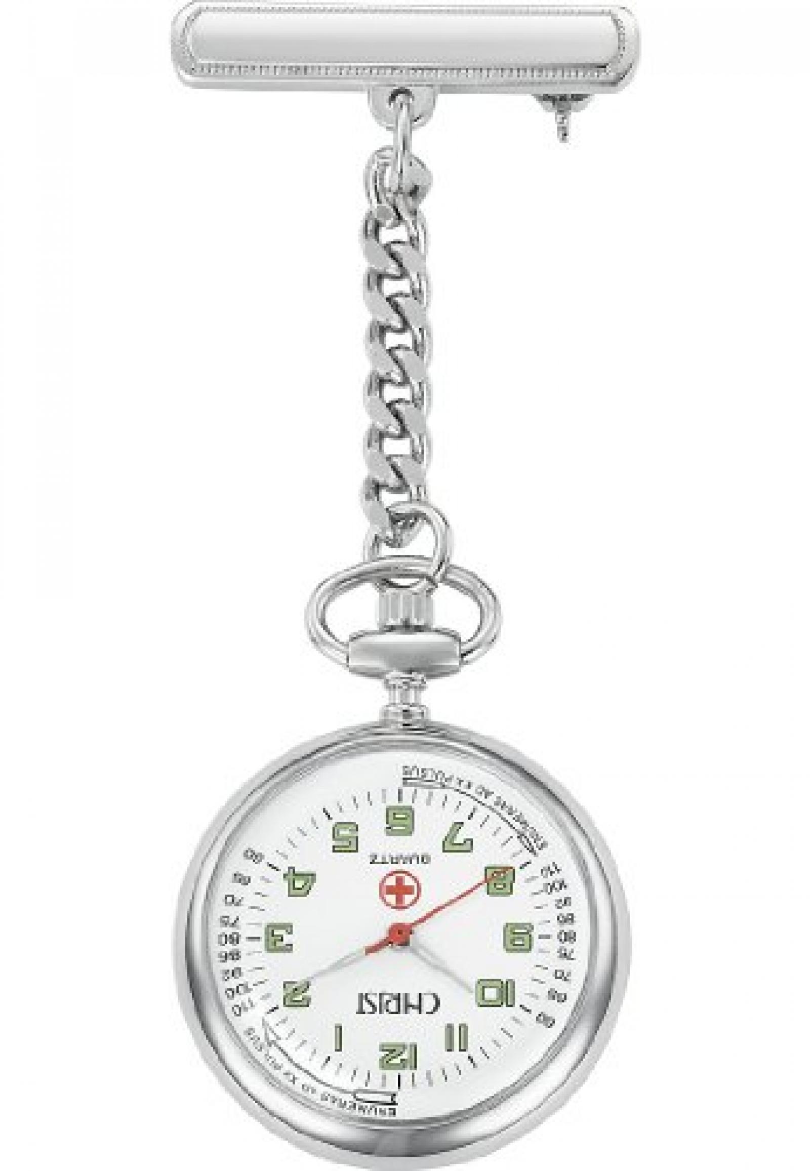 CHRIST times Damen-Taschenuhr Taschenuhr Arabische Ziffern Quarz One Size, weiß, silber/weiß