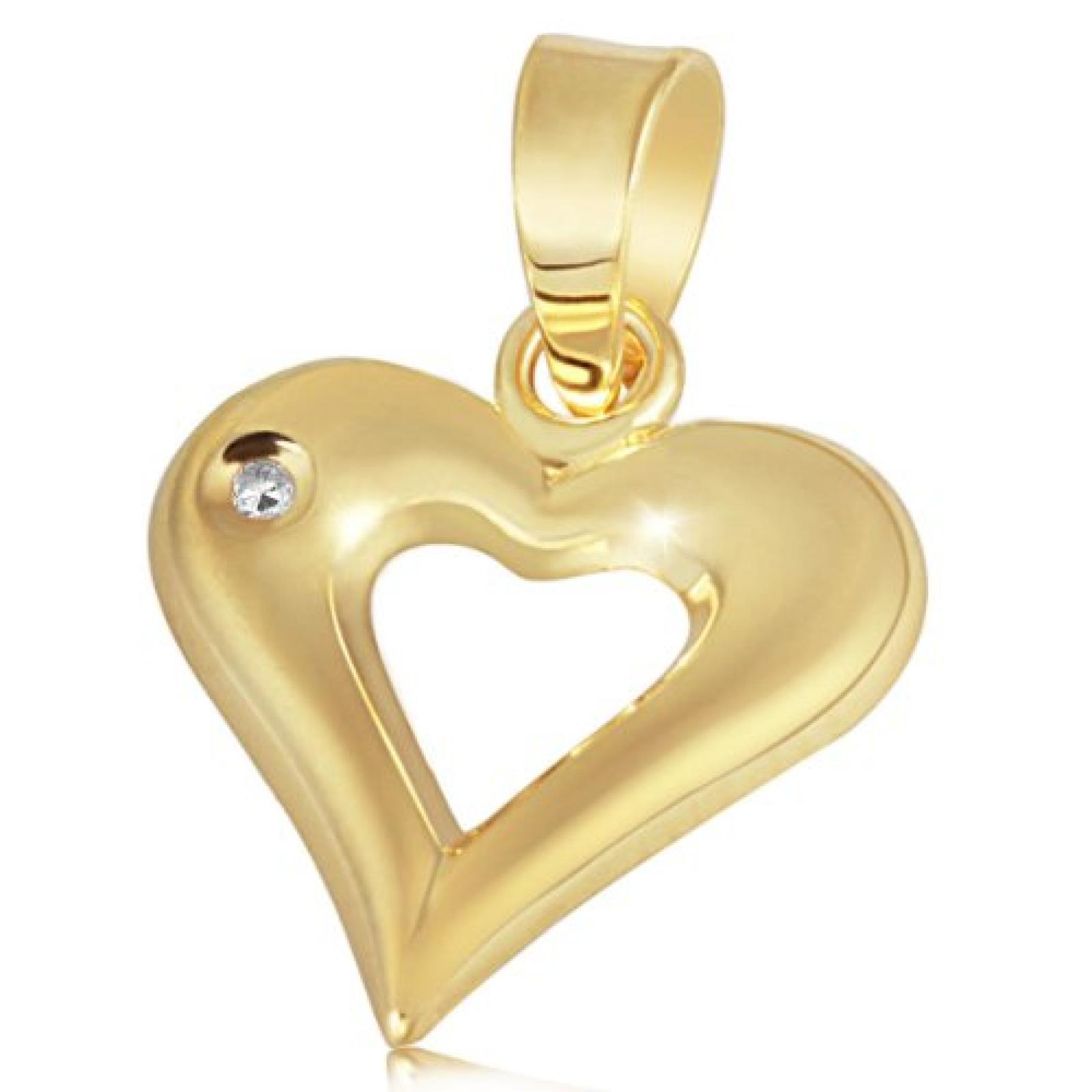 Goldmaid Damen-Anhänger Herz 585 Gelbgold 1 Diamant 0,01 ct Pr A2410GG