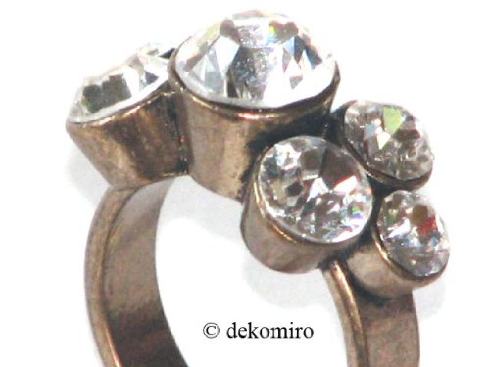 Pilgrim Ring mit Kristallen 3080