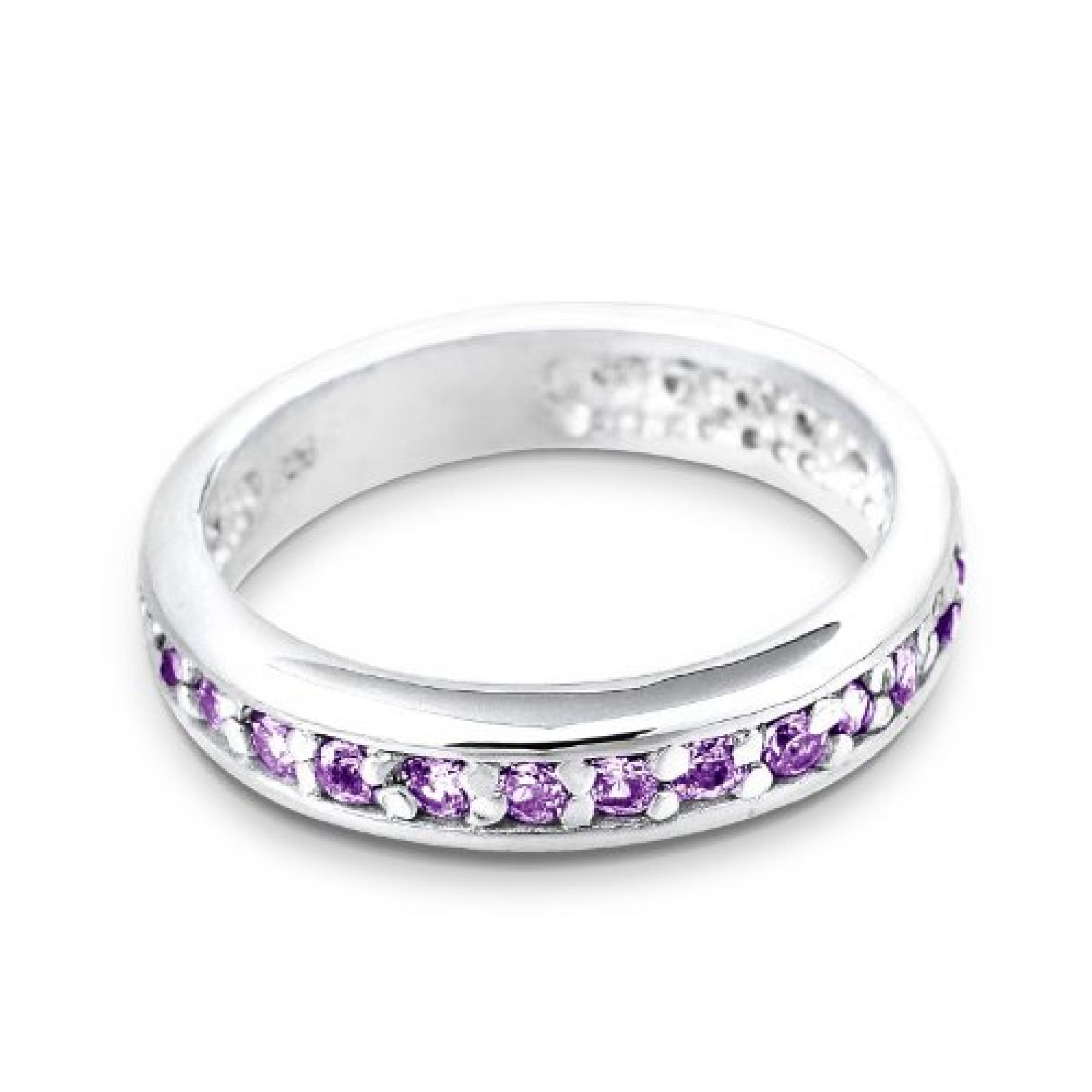 Elli Damen-Ring Violett 925 Silber 06400041