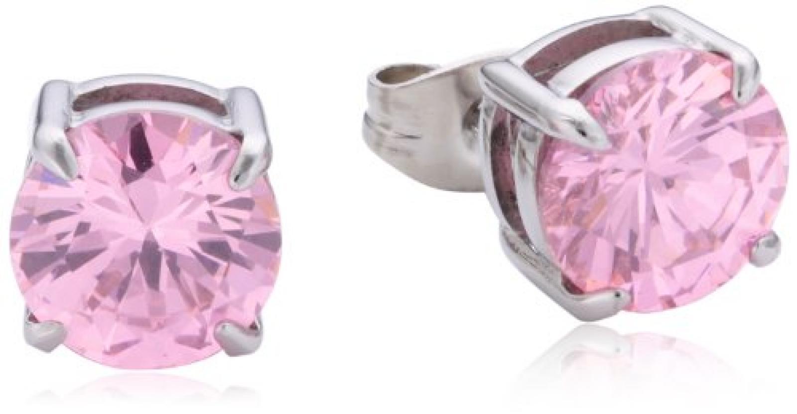 Dyrberg/Kern Damen-Ohrstecker Edelstahl Kristall pink 335345