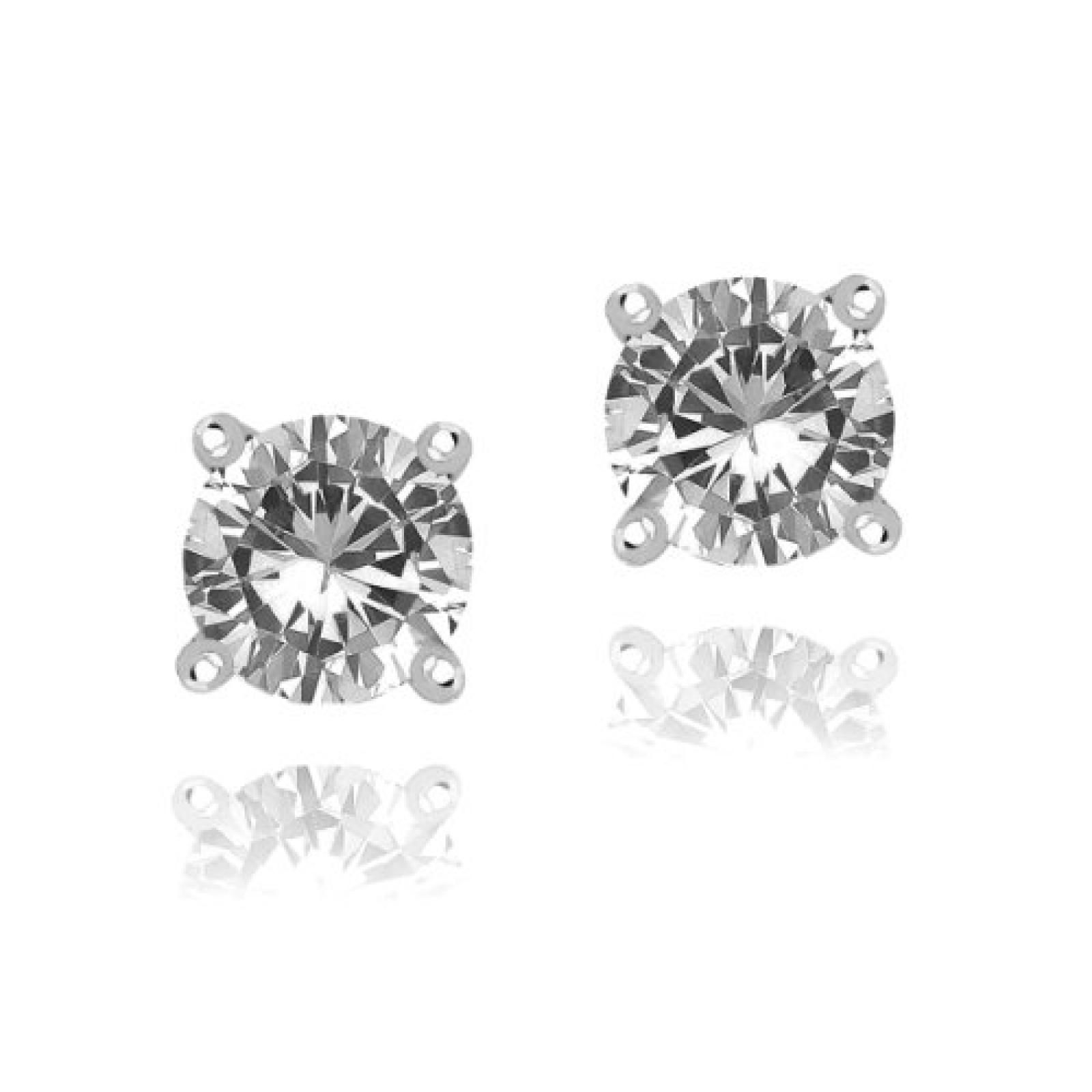 Rafaela Donata Damen-Ohrstecker Classic Collection 925 Sterling Silber Zirkonia weiß 60837053