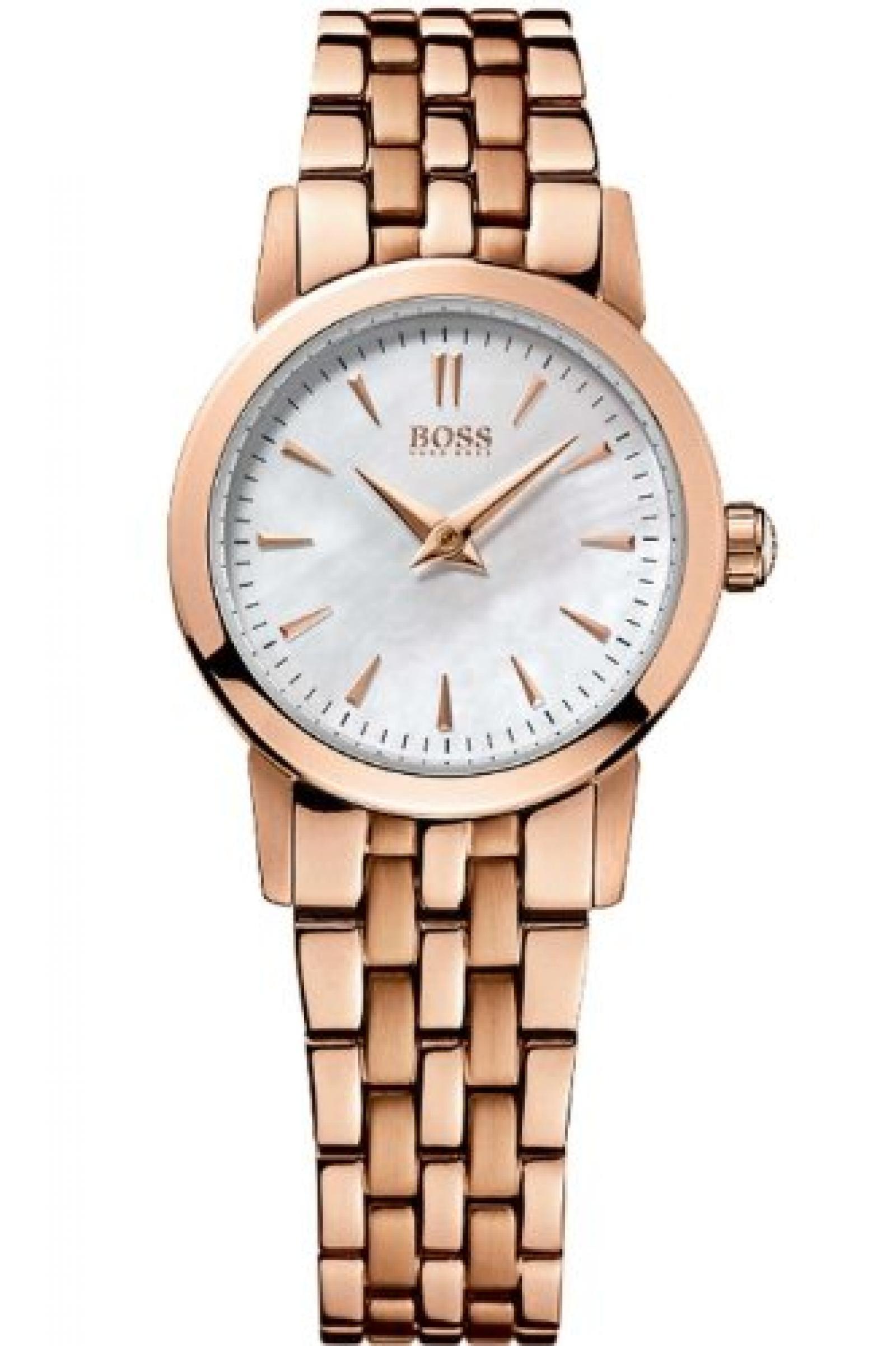 Hugo Boss 1502362 Uhr Damenuhr Edelstahl 30m Analog rosé