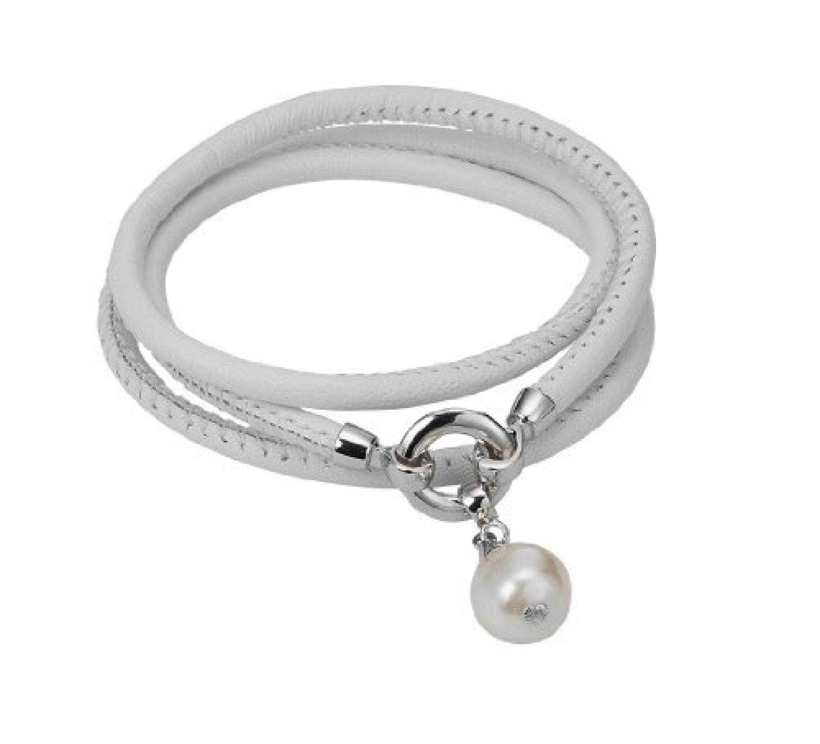 Adriana Damen-Set: Halskette + Armband Süßwasser Zuchtperlen 925 Sterling Silber L1-weiss