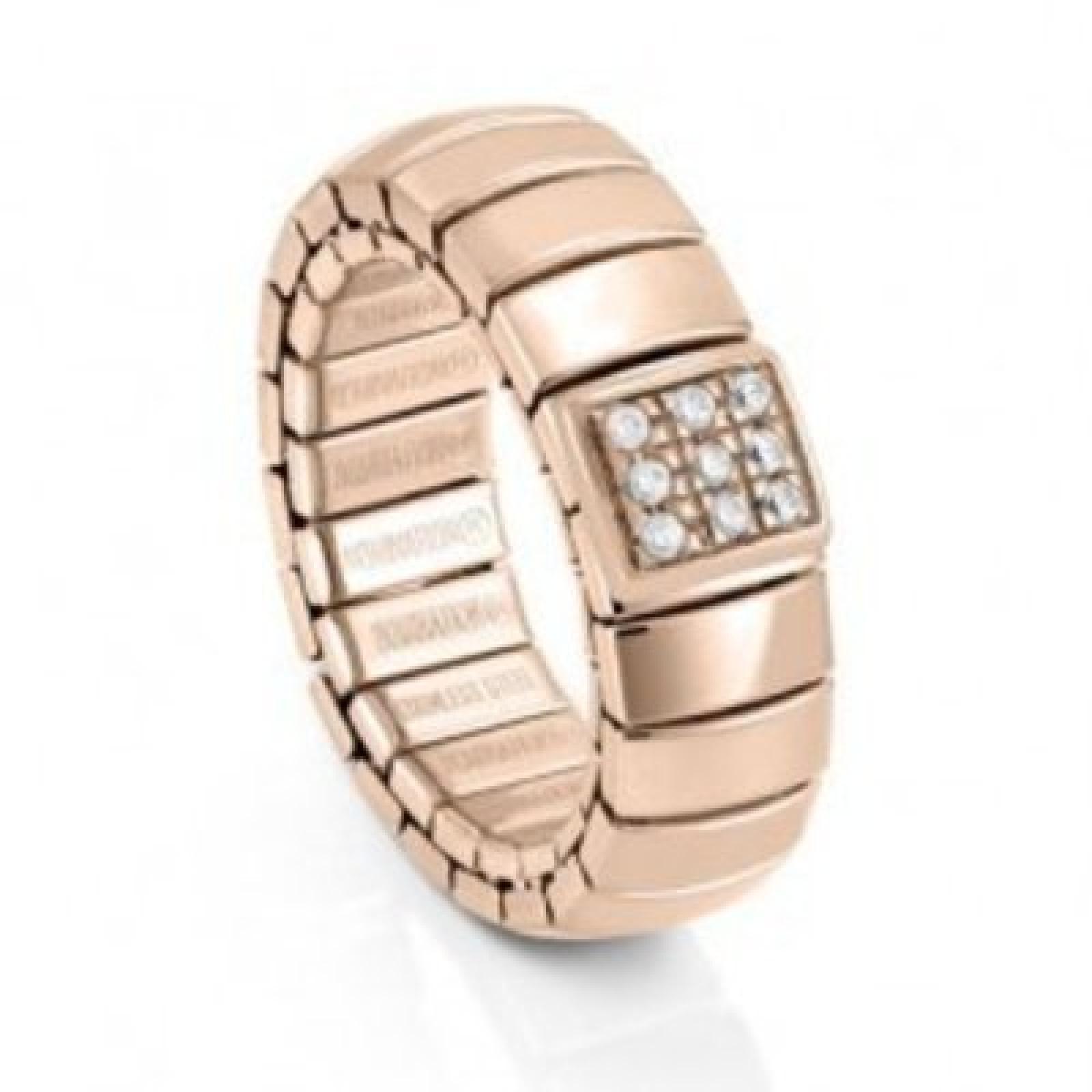 Damen Ring Edelstahl Zirkonia Extension roségold