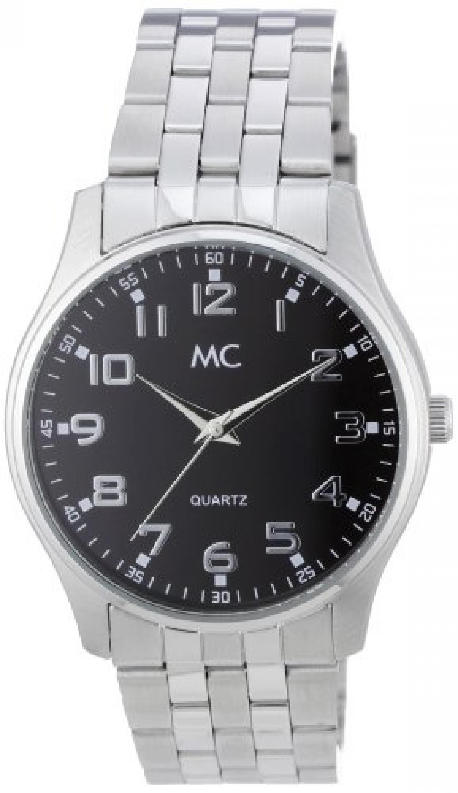 MC Timetrend Herren-Armbanduhr Analog Quarz Edelstahl 26639