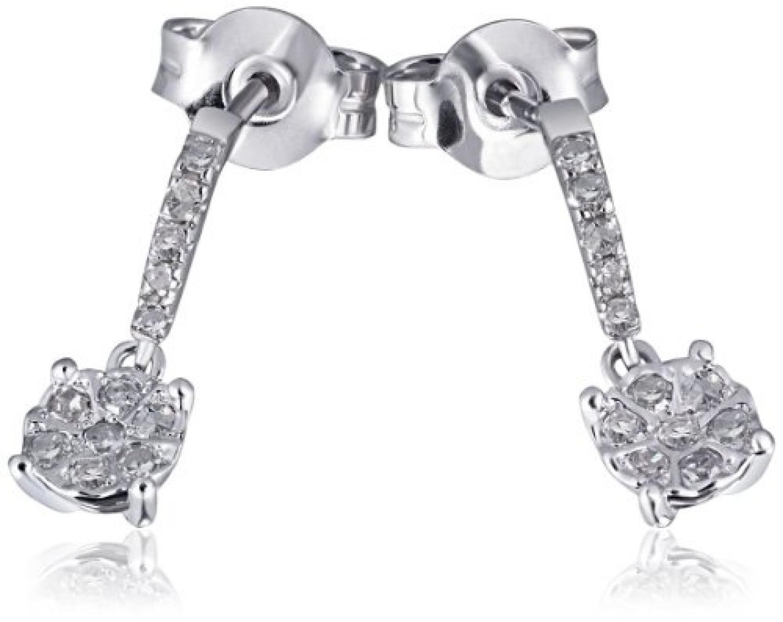 Goldmaid Damen-Ohrhänger 14 Karat 585 Weißgold Glamour 20 Diamanten 0,11 ct. Pa O6337WG