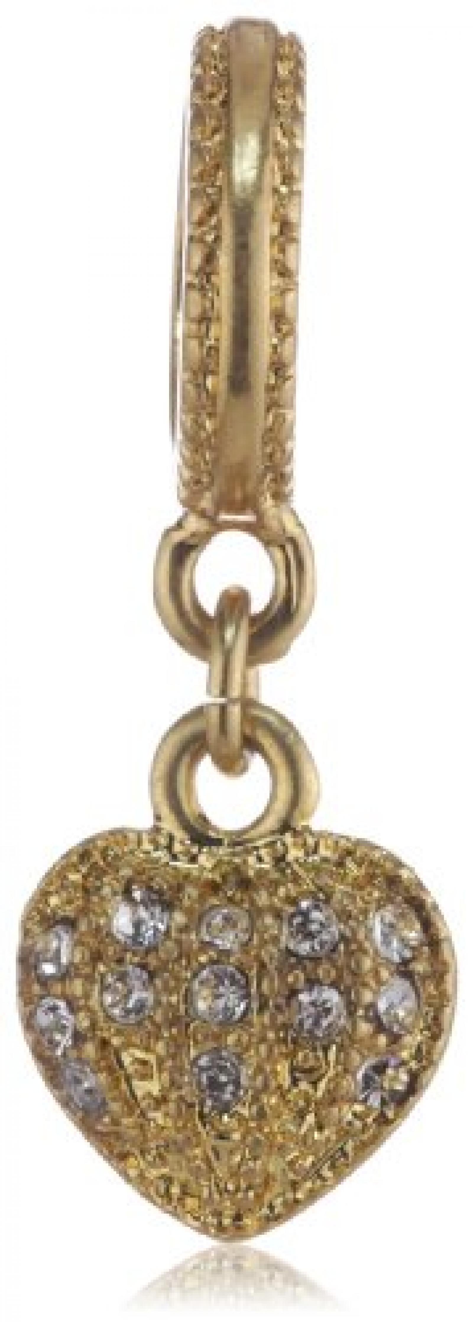 Pilgrim Jewelry Damen-Anhänger aus der Serie Charming vergoldet kristall 6.5 cm 421232009