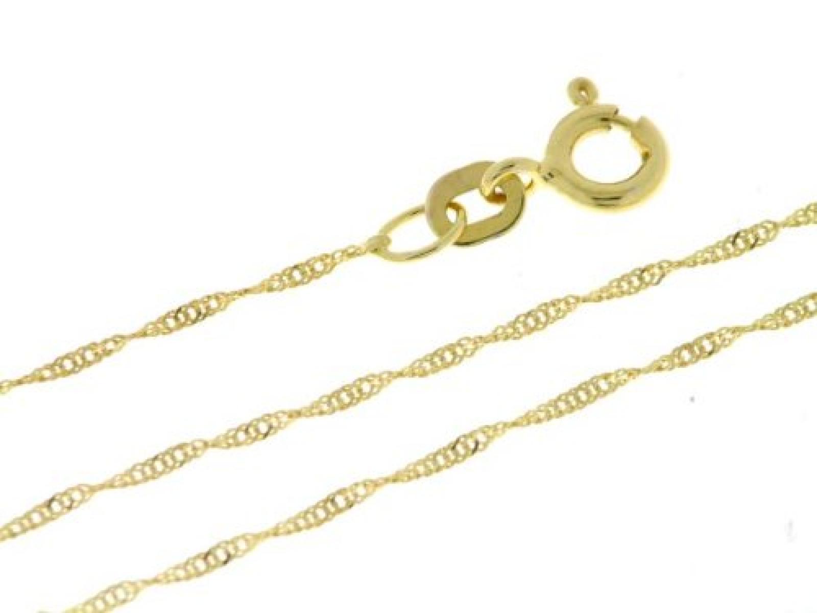 BOB C. Damen-Halskette ohne Anhänger Singapur 14 Karat 585 Gelbgold 326901
