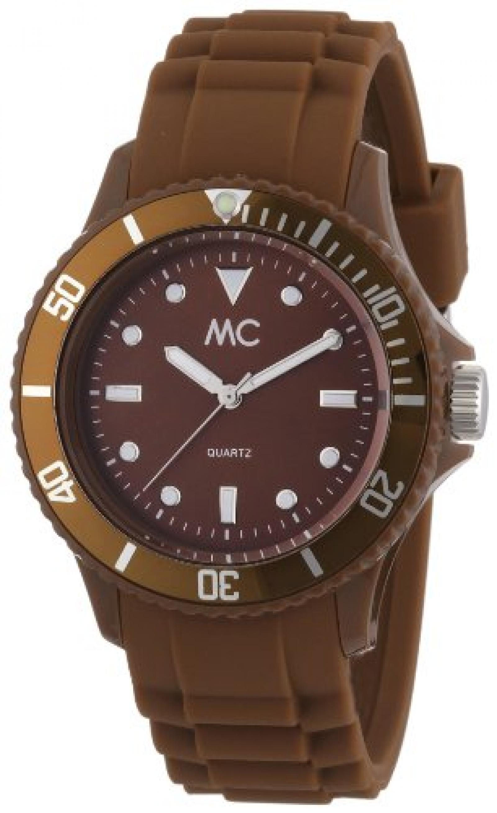 MC Timetrend Unisex-Armbanduhr Happy Time Analog Quarz Kunststoff braun 27370