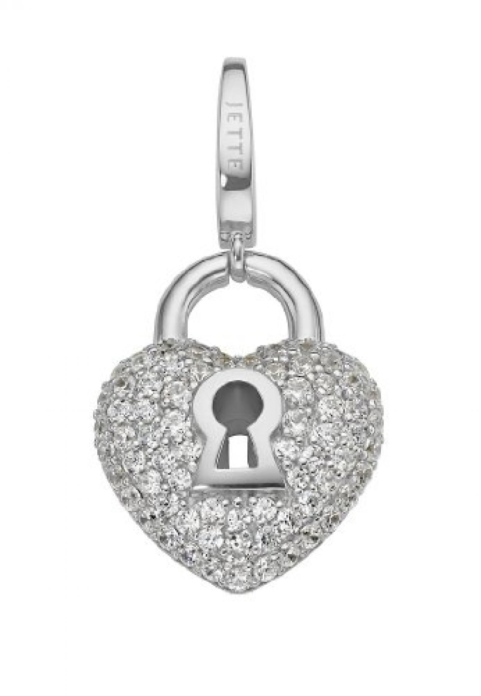 JETTE Charms Damen-Charm CHARM 925er Silber 75 Zirkonia One Size, silber