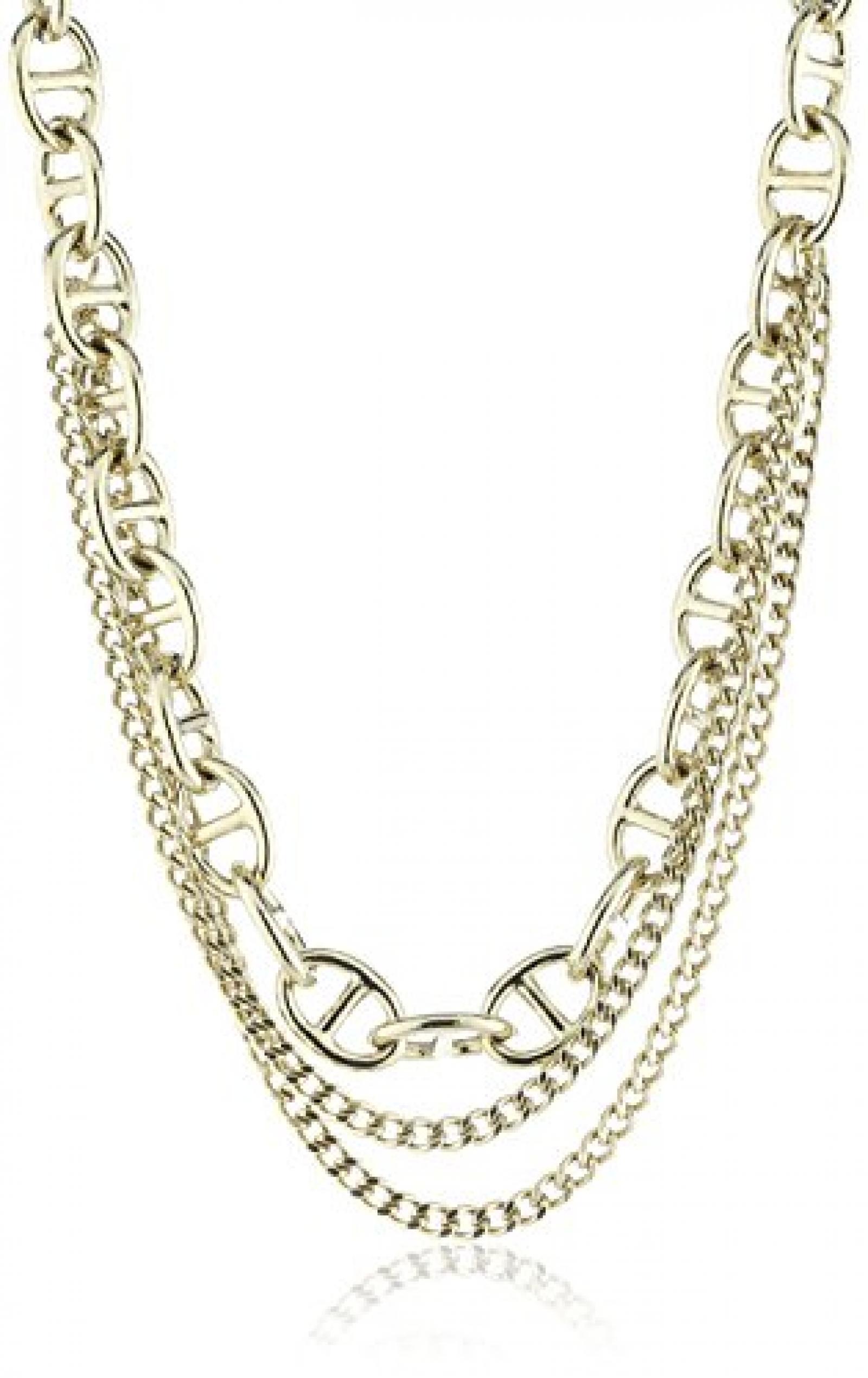 Dyrberg/Kern Damen Halskette Vergoldetes Metall Swarovski-Kristall 336242