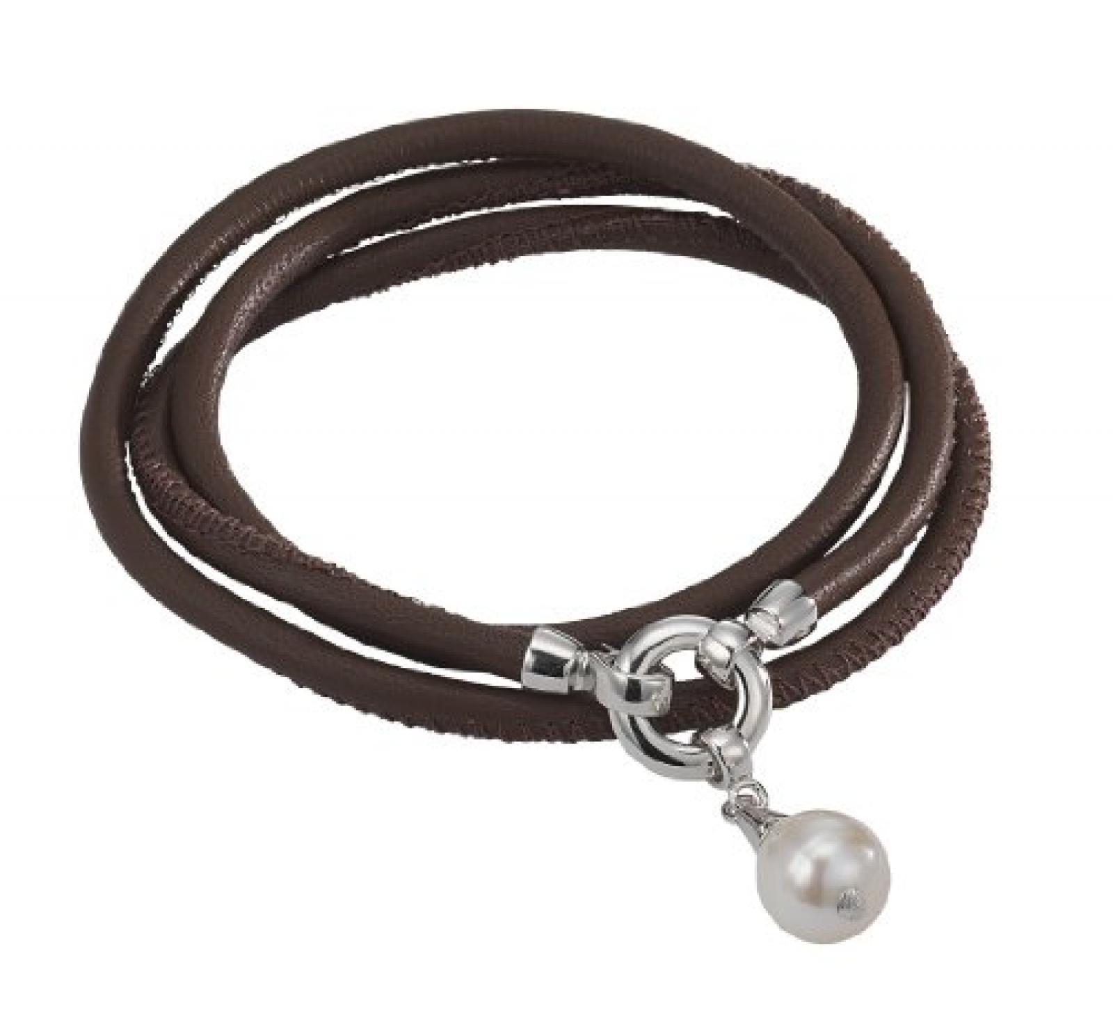 Adriana Damen-Set: Halskette + Armband Süßwasser Zuchtperlen 925 Sterling Silber L1-havannah