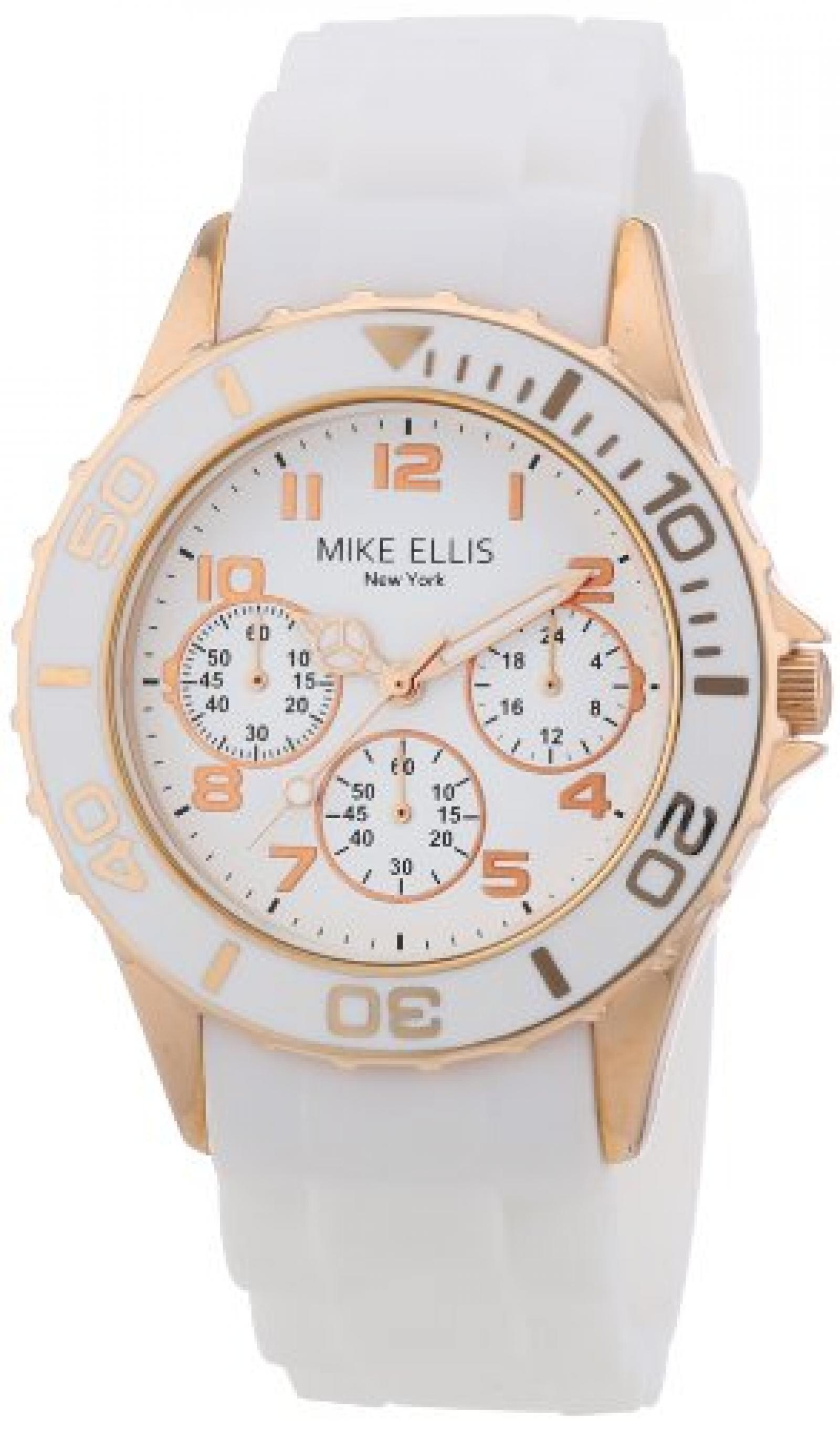 Mike Ellis New York Damen-Armbanduhr Analog Quarz Silikon S2703ARS
