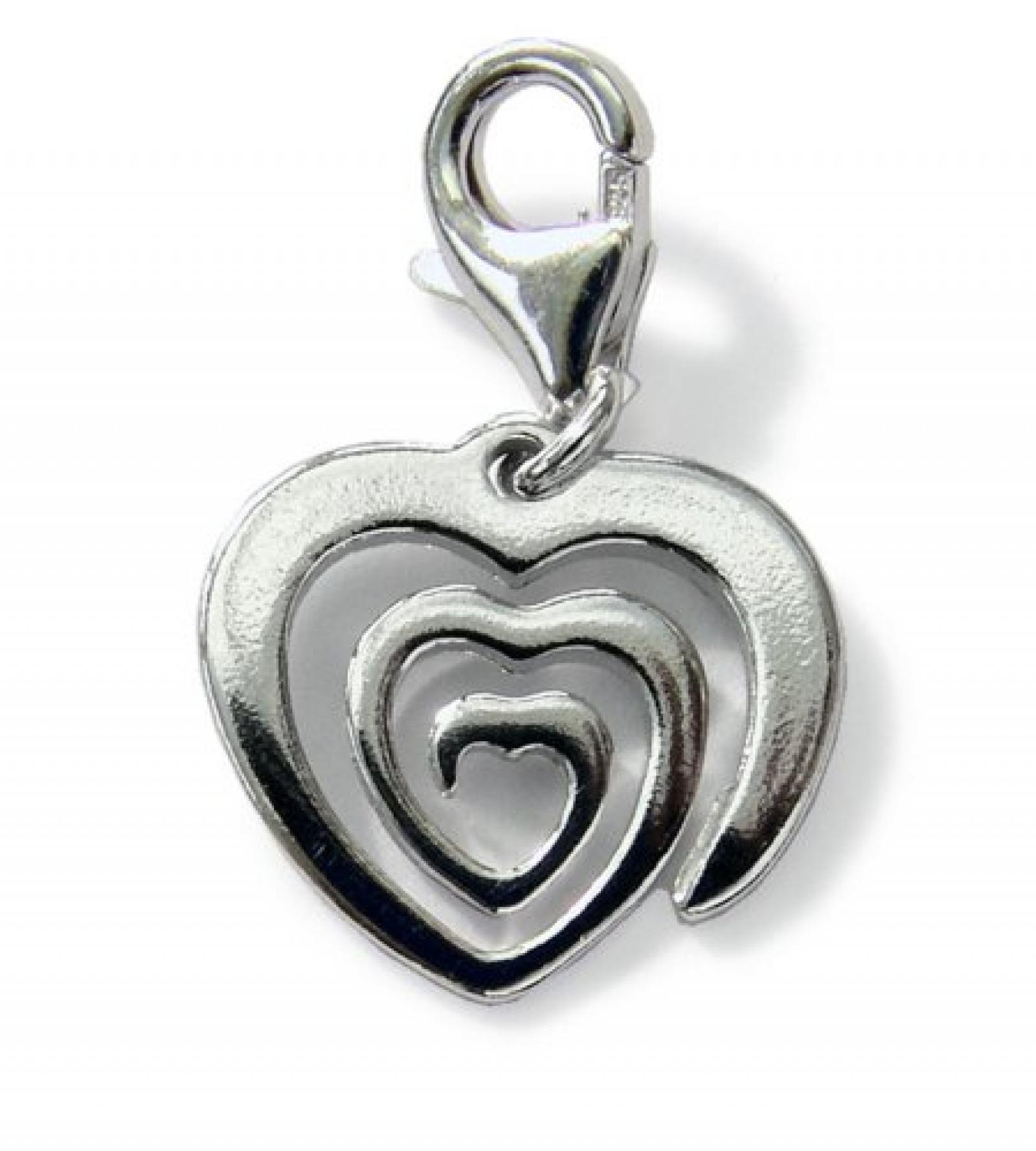 ZEEme Charms-Anhänger Herz 925/- Sterling Silber 248240129
