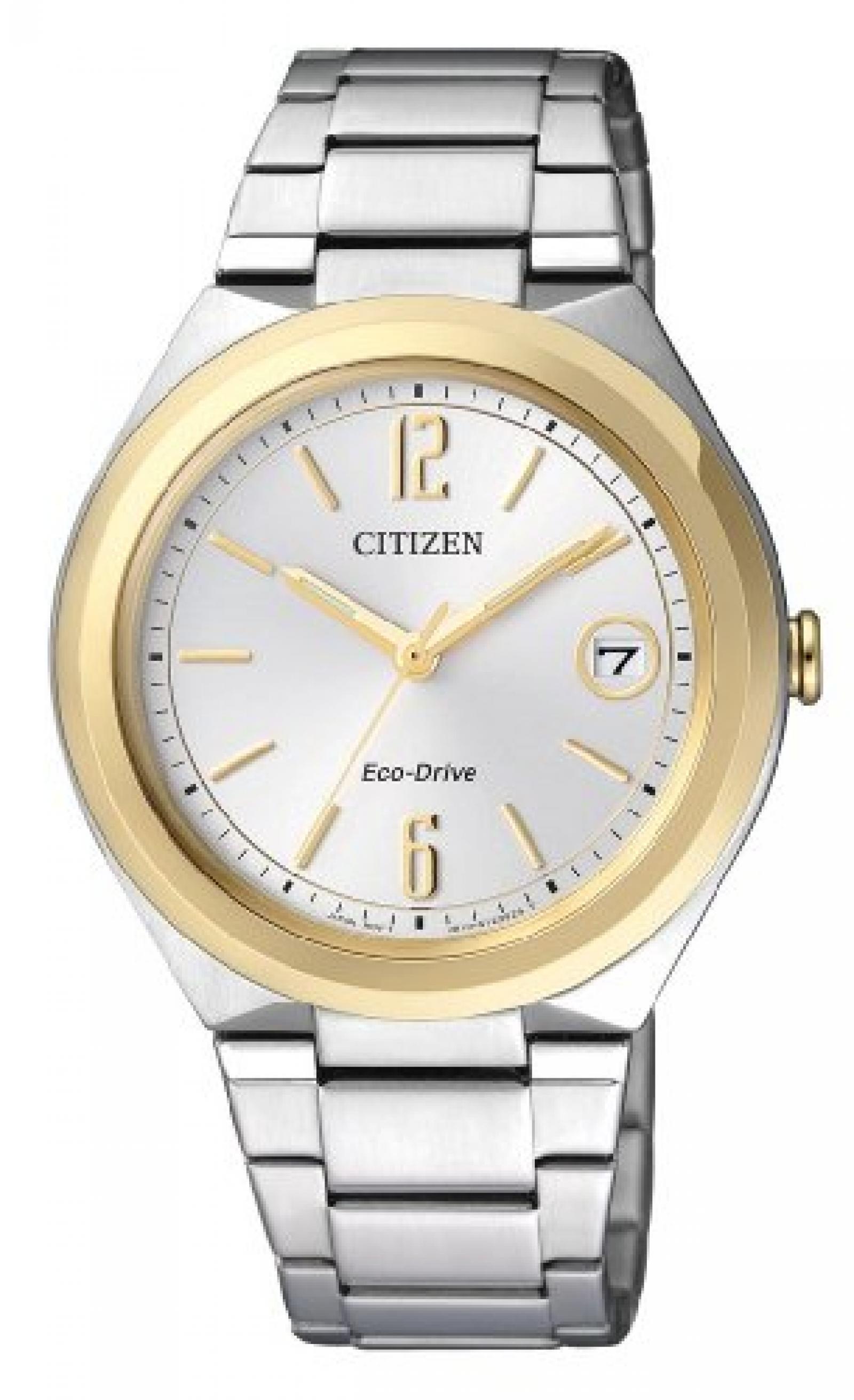 Citizen Damen-Armbanduhr XS Analog Quarz Edelstahl FE6024-55A