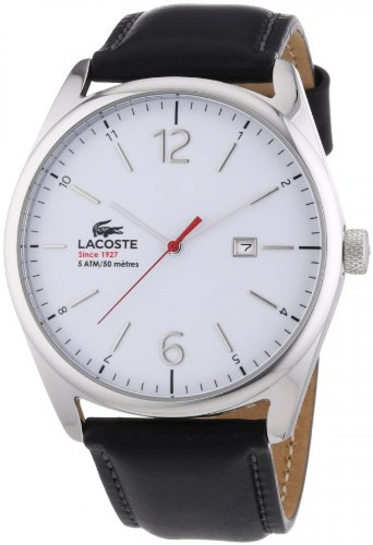 Lacoste Herren-Armbanduhr XL Analog Quarz Leder 2010680