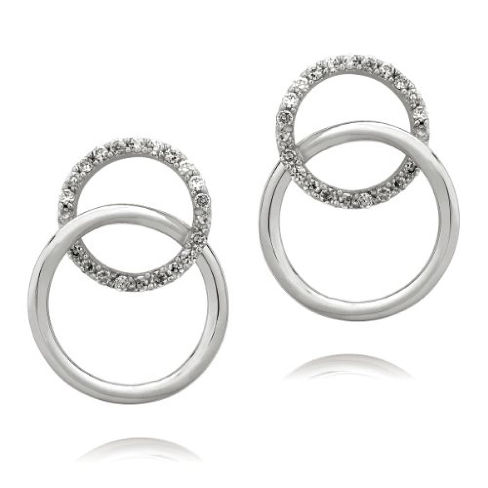 Rafaela Donata Glamour Collection Damen-Ohrstecker 925 Sterling Silber Zirkonia weiß  60832008