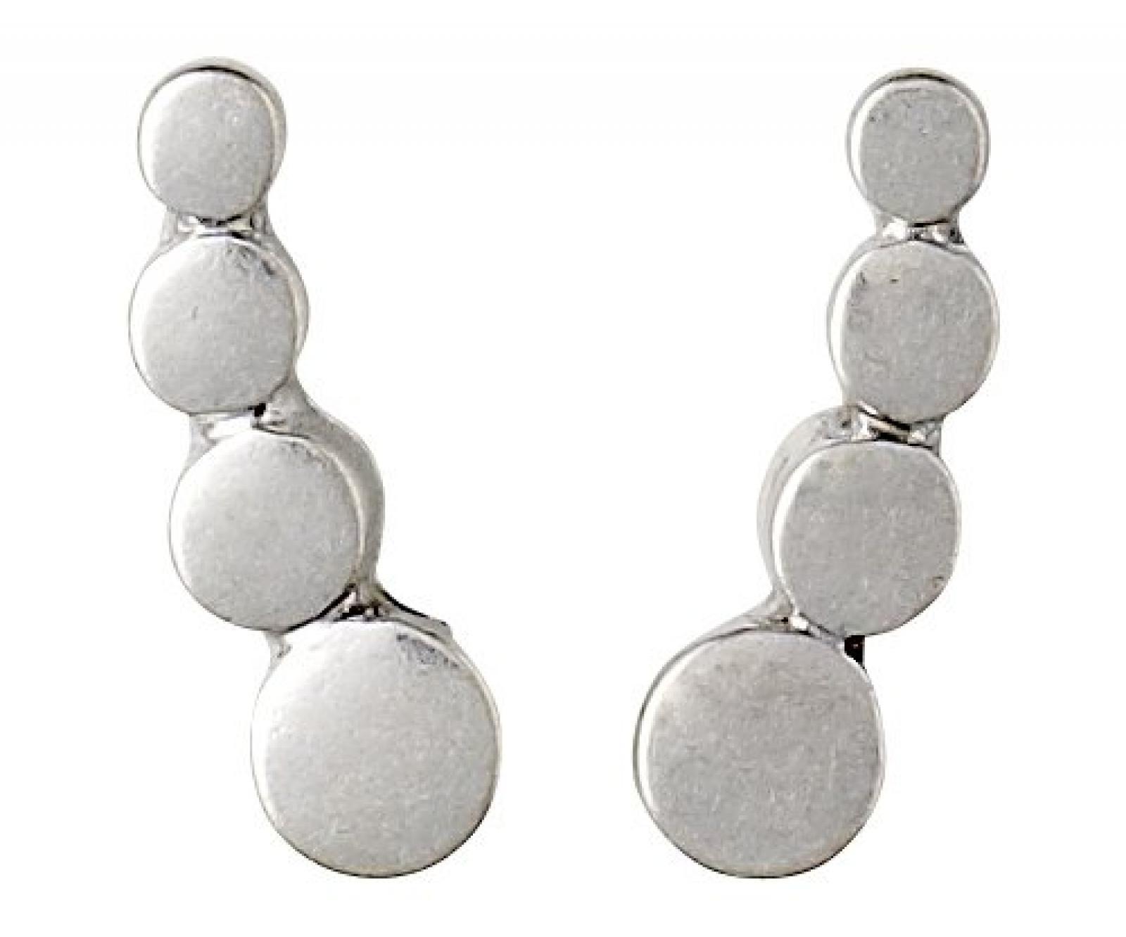 Pilgrim Jewelry Damen-Ohrstecker aus der Serie Ear post versilbert 1.5 cm 281316003