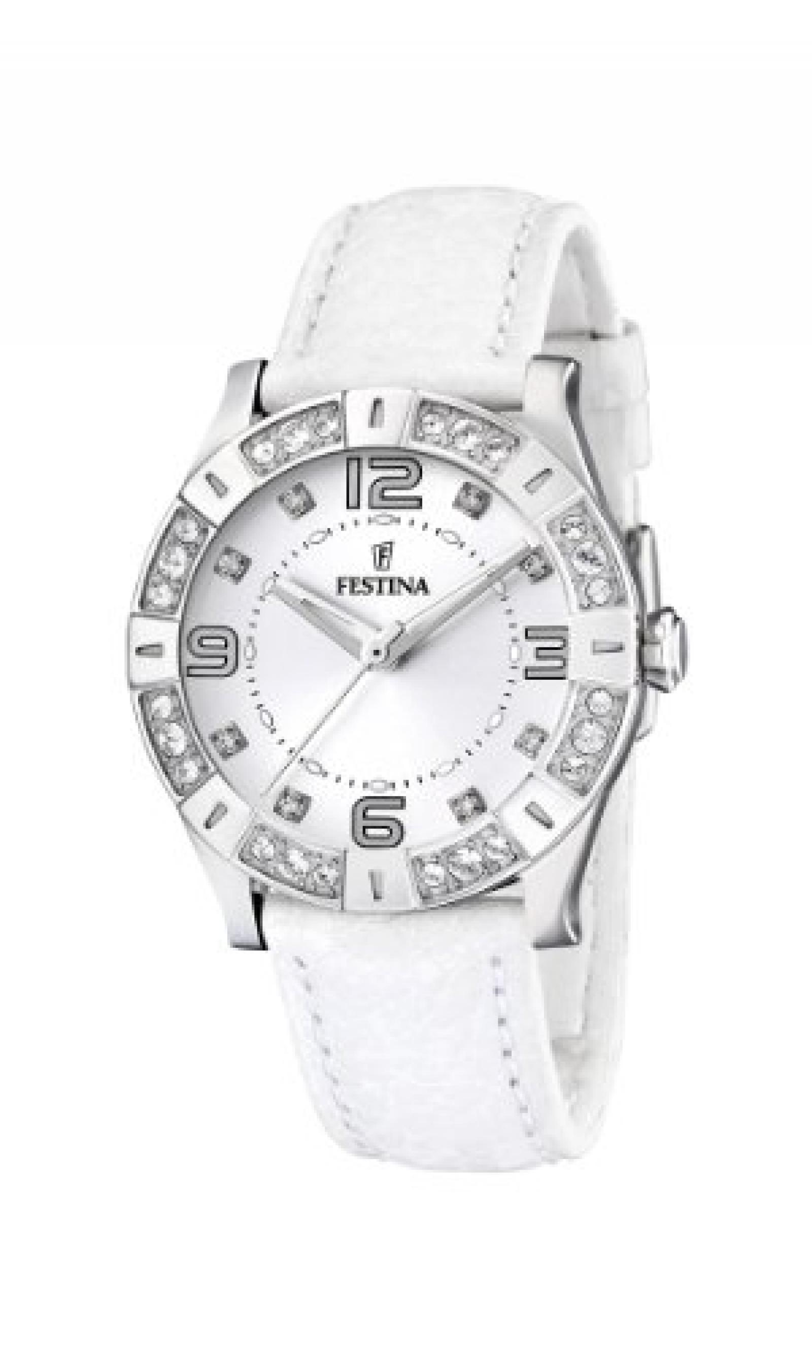 Festina Damen-Armbanduhr Analog Quarz Leder F16537/1