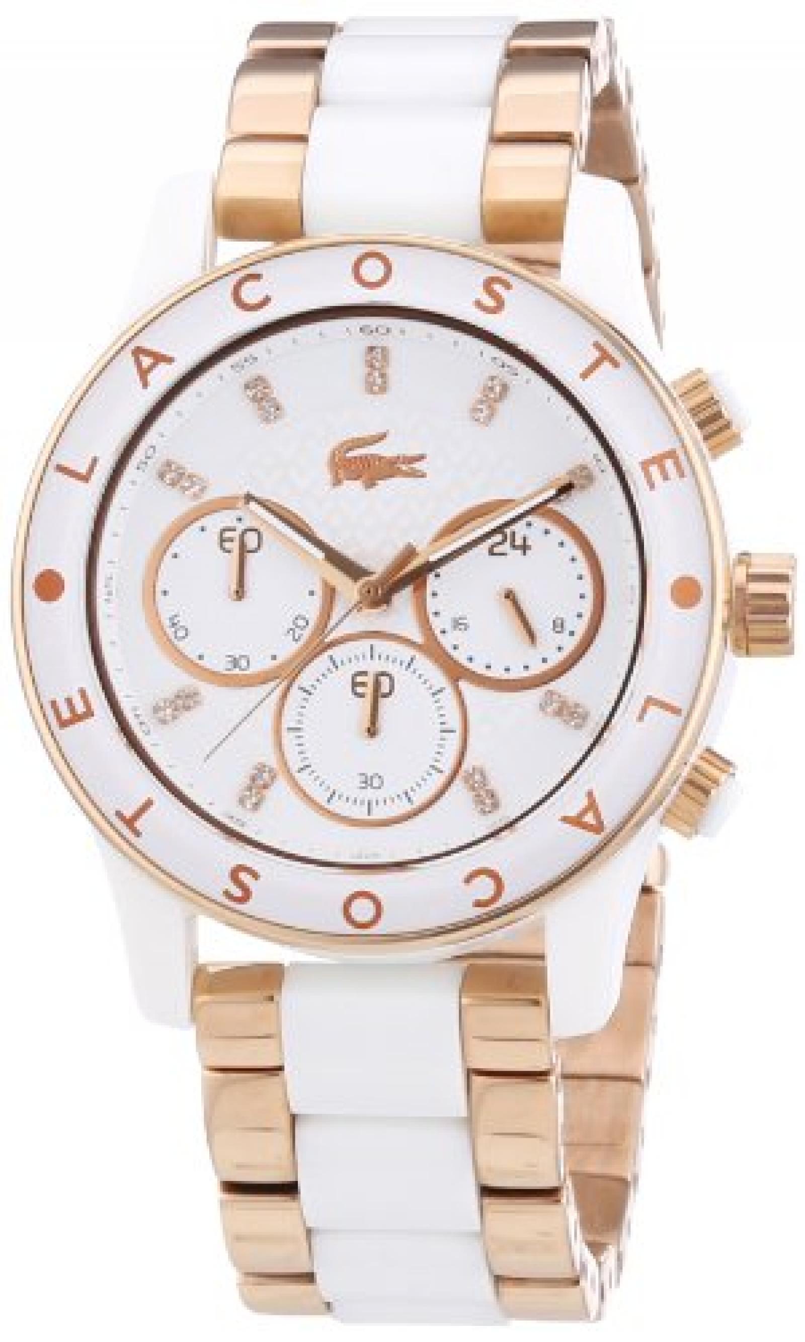 Lacoste Damen-Armbanduhr Analog Quarz verschiedene Materialien 2000804