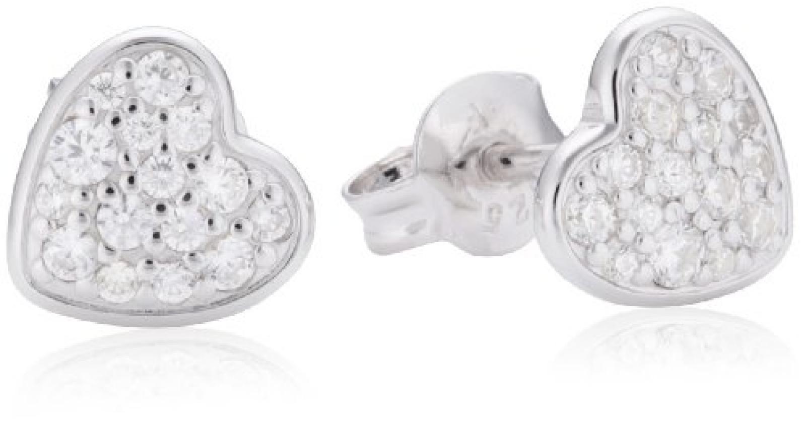 Fossil Damen-Ohrstecker 925 Sterling Silber weiß JFS00151040