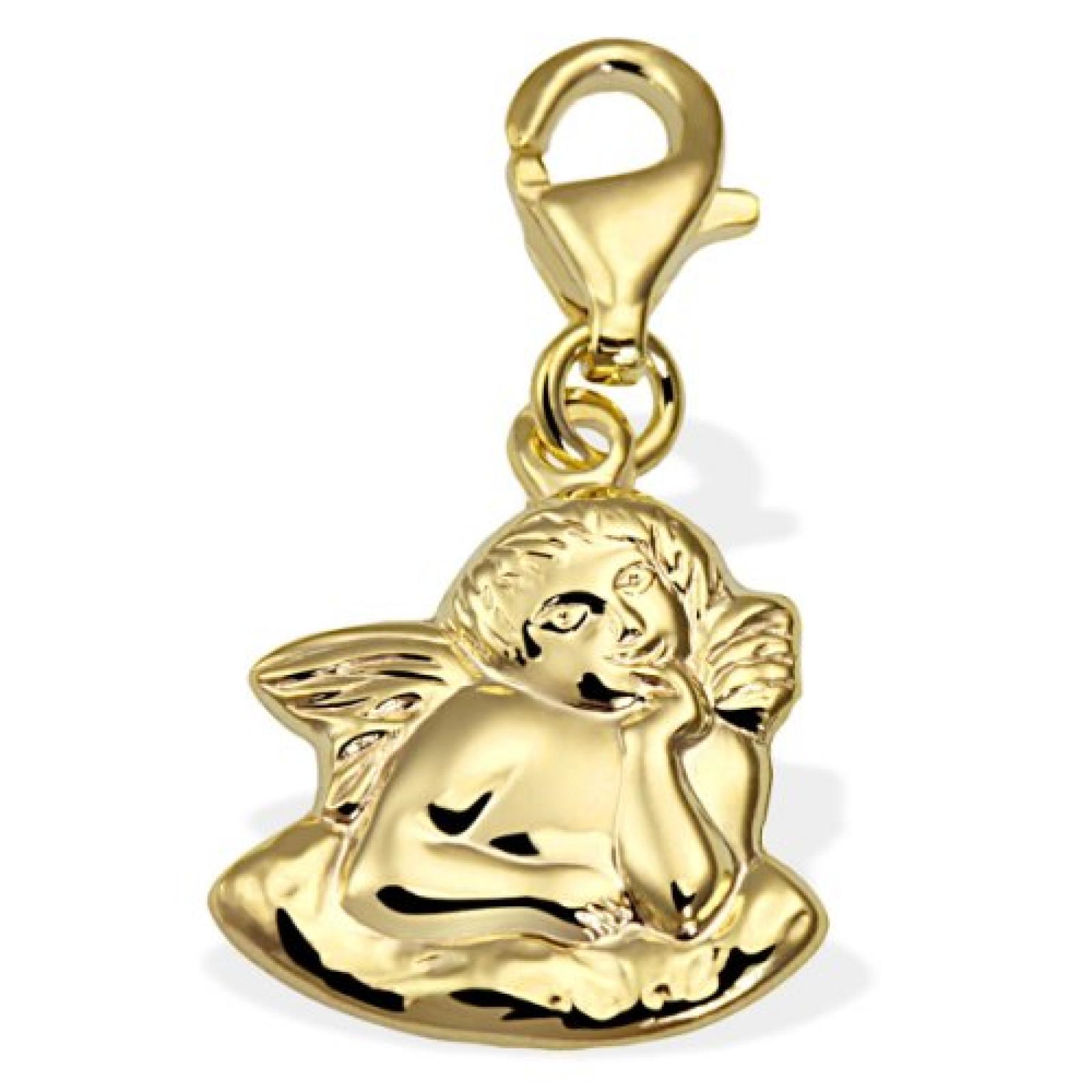 Goldmaid Damen-Charm Engel 333 Gelbgold Gh A4427GG