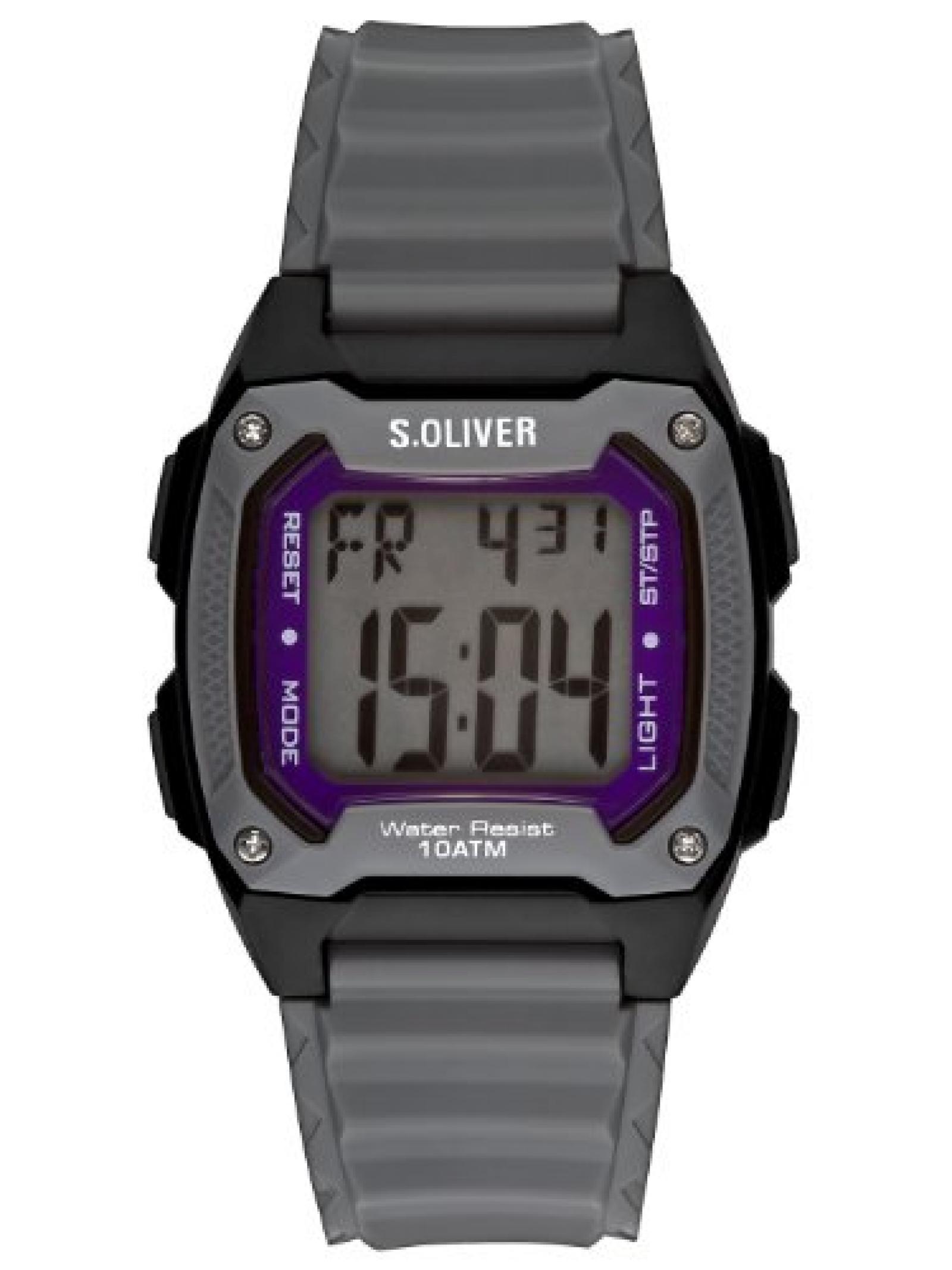 s.Oliver Herren-Armbanduhr Digital Plastik SO-2380-PD
